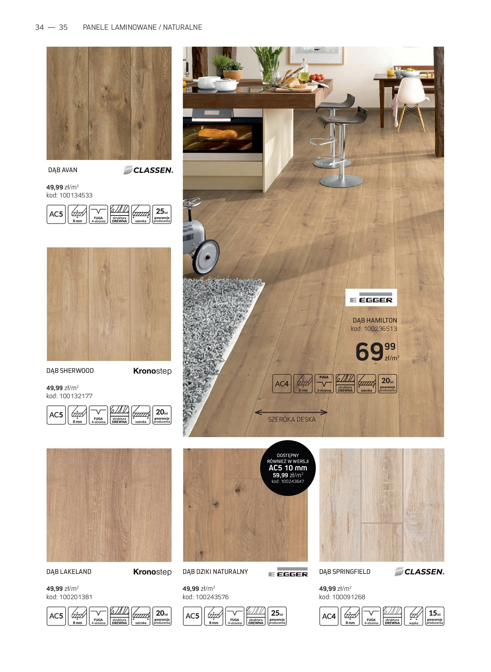 Gazetka Komfort: Gazetka Komfort - Katalog podłogi i drzwi 2021-06-16 page-34