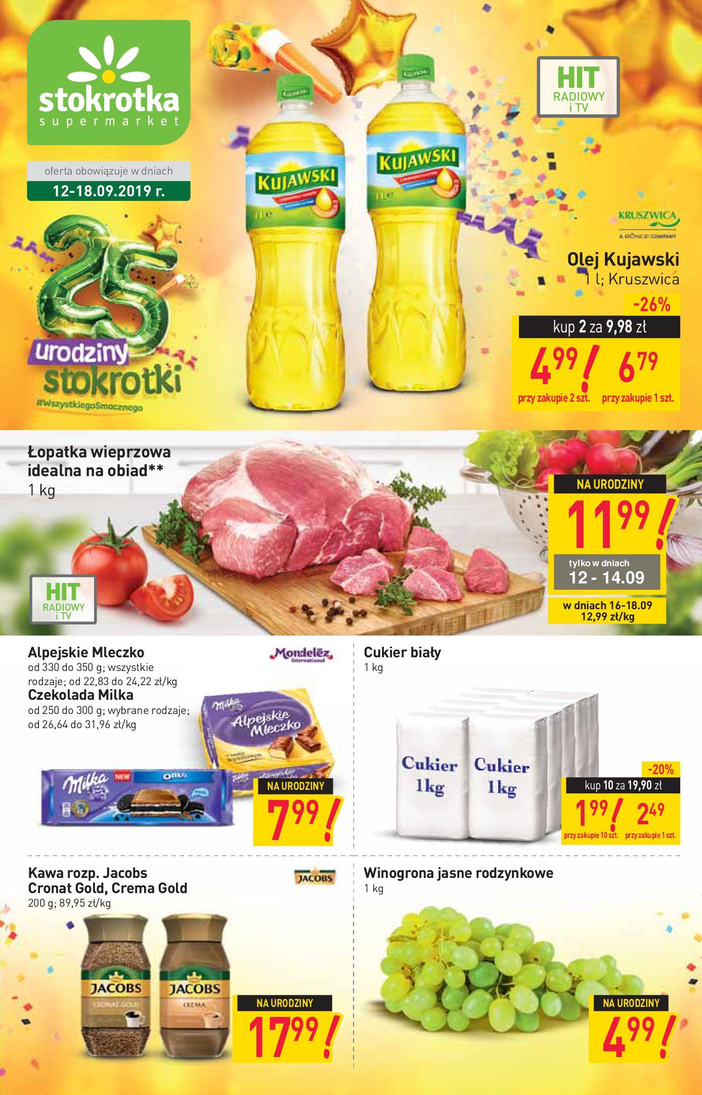 Gazetka Stokrotka Supermarket - W tym tygodniu-11.09.2019-18.09.2019-page-1