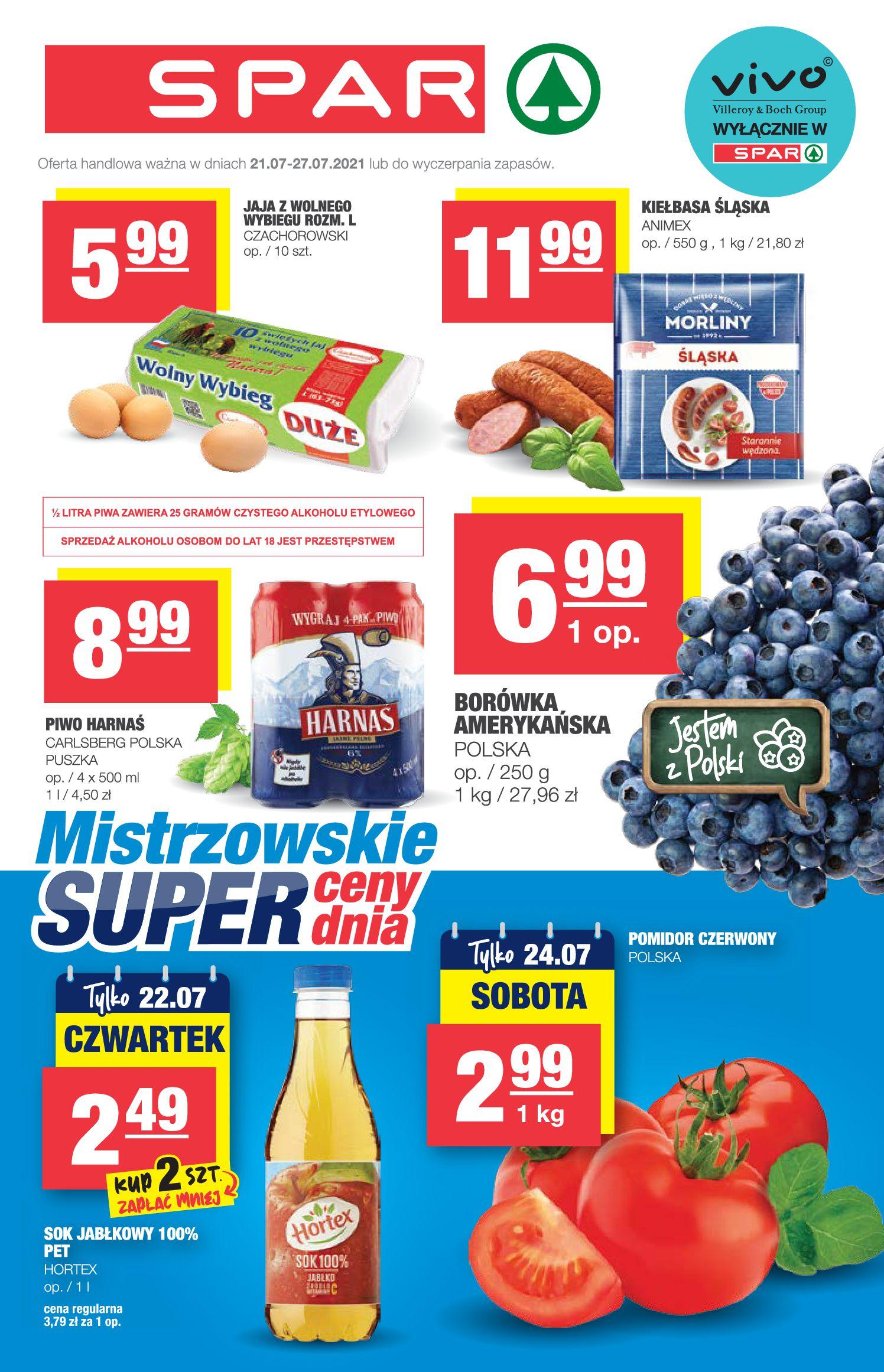 Gazetka Spar: Gazetka SPAR Express 2021-07-21 page-1