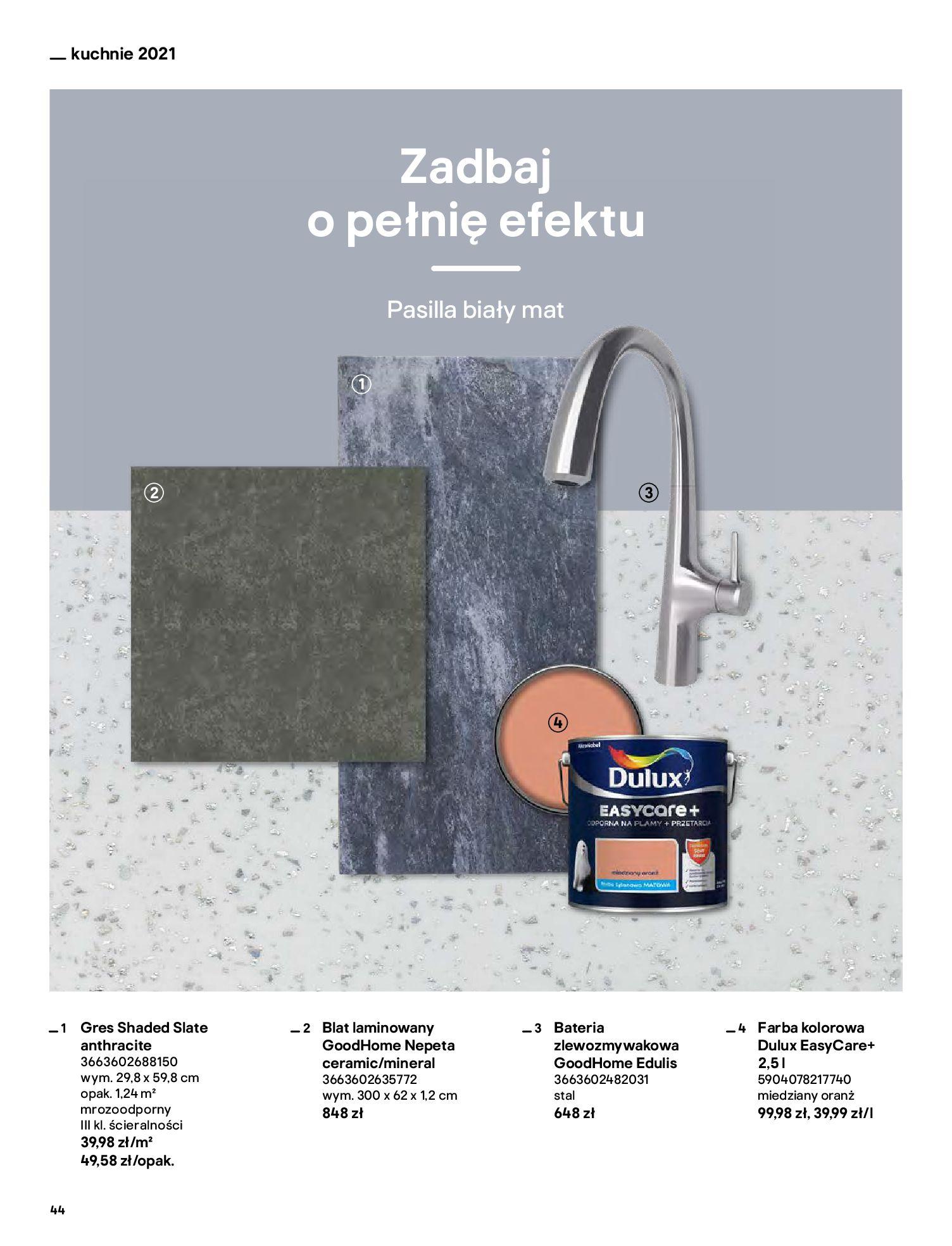 Gazetka Castorama: Katalog kuchnie 2021 2021-05-04 page-44