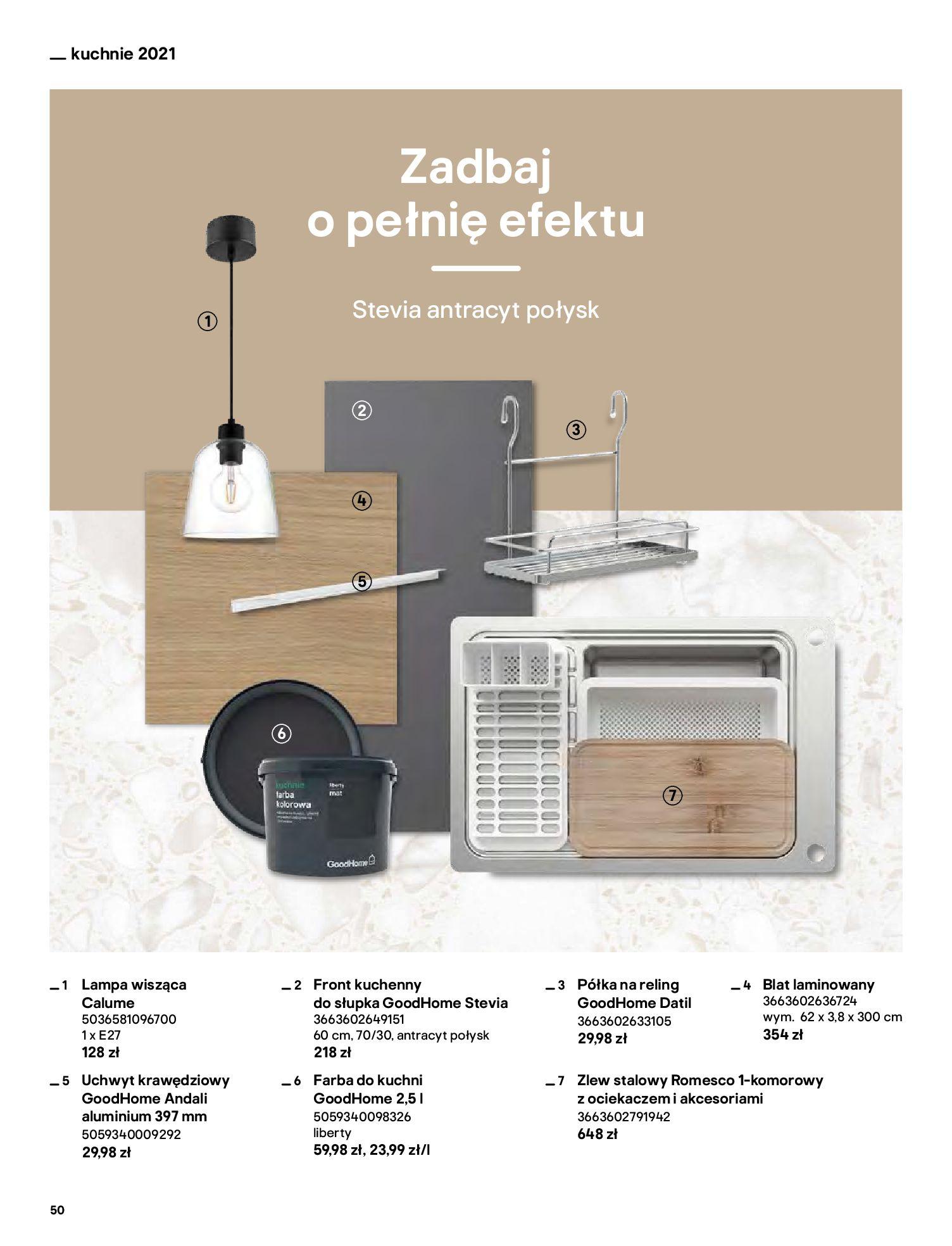 Gazetka Castorama: Katalog kuchnie 2021 2021-05-04 page-50