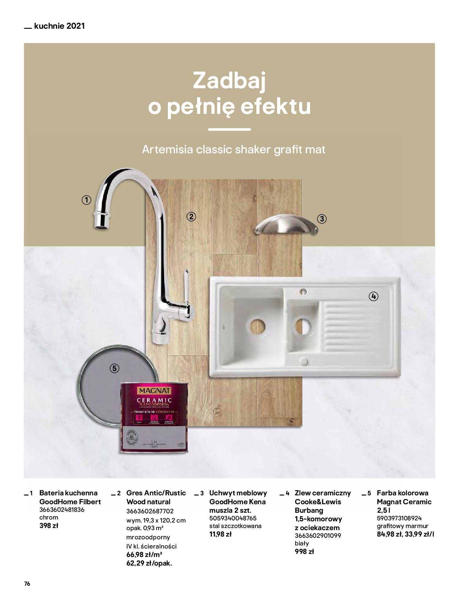 Gazetka Castorama: Katalog kuchnie 2021 2021-05-04 page-76