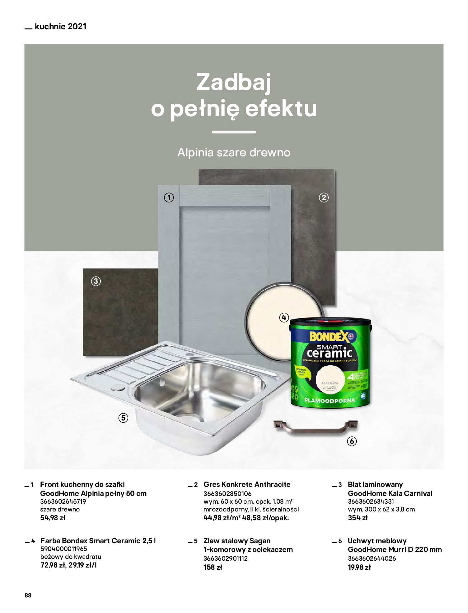 Gazetka Castorama: Katalog kuchnie 2021 2021-05-04 page-88