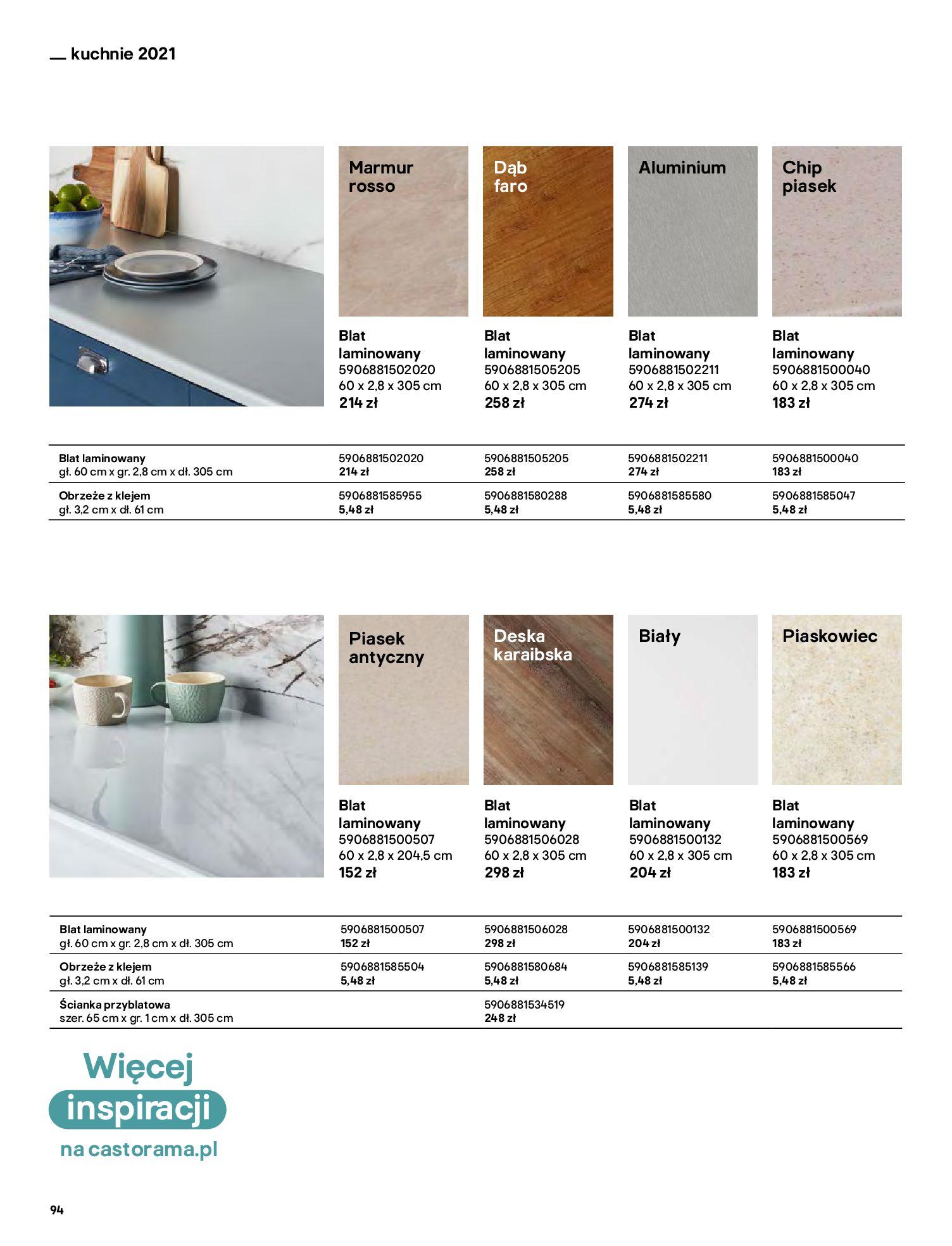 Gazetka Castorama: Katalog kuchnie 2021 2021-05-04 page-94