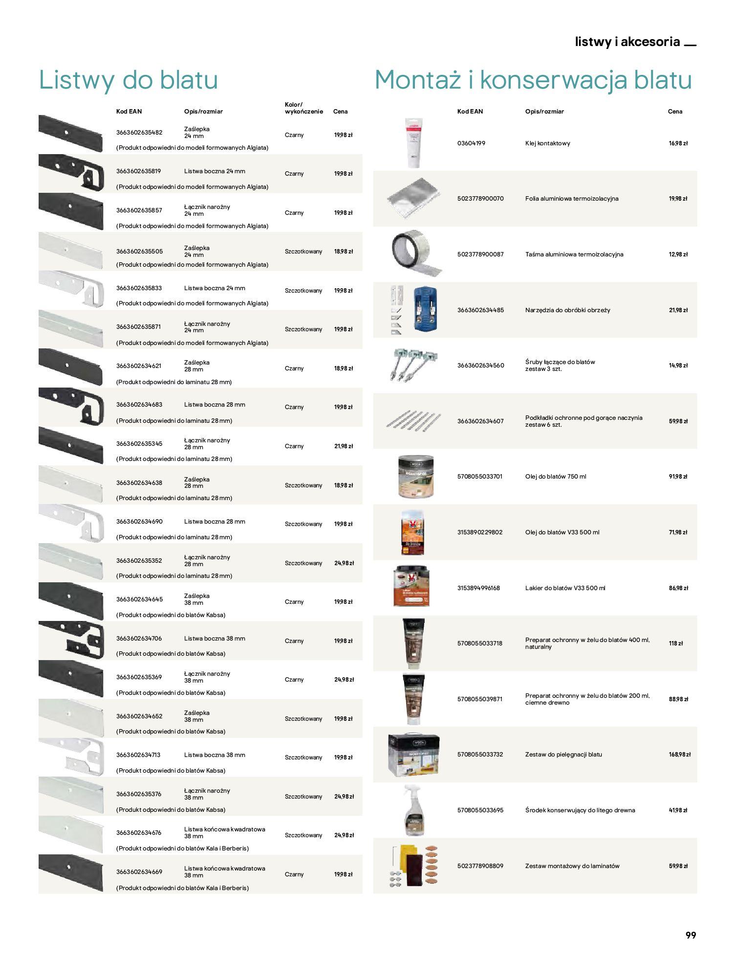 Gazetka Castorama: Katalog kuchnie 2021 2021-05-04 page-99