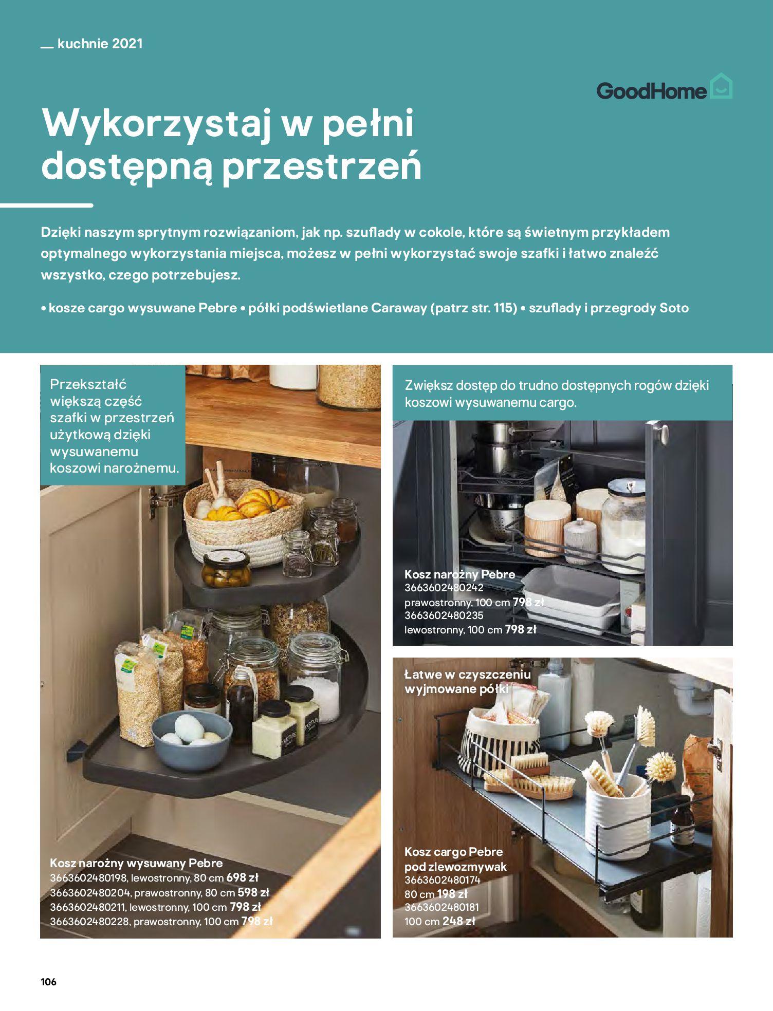 Gazetka Castorama: Katalog kuchnie 2021 2021-05-04 page-106
