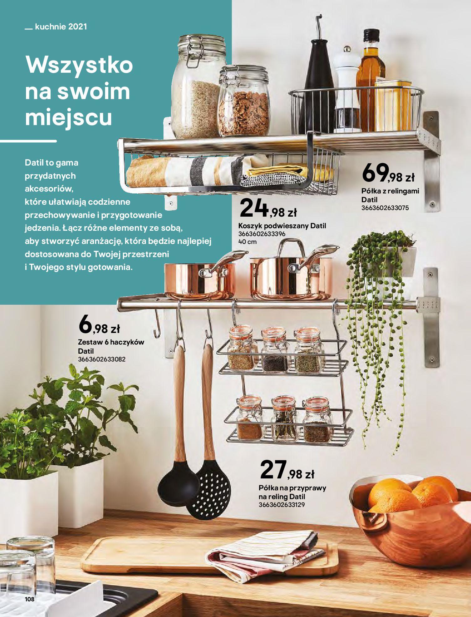 Gazetka Castorama: Katalog kuchnie 2021 2021-05-04 page-108