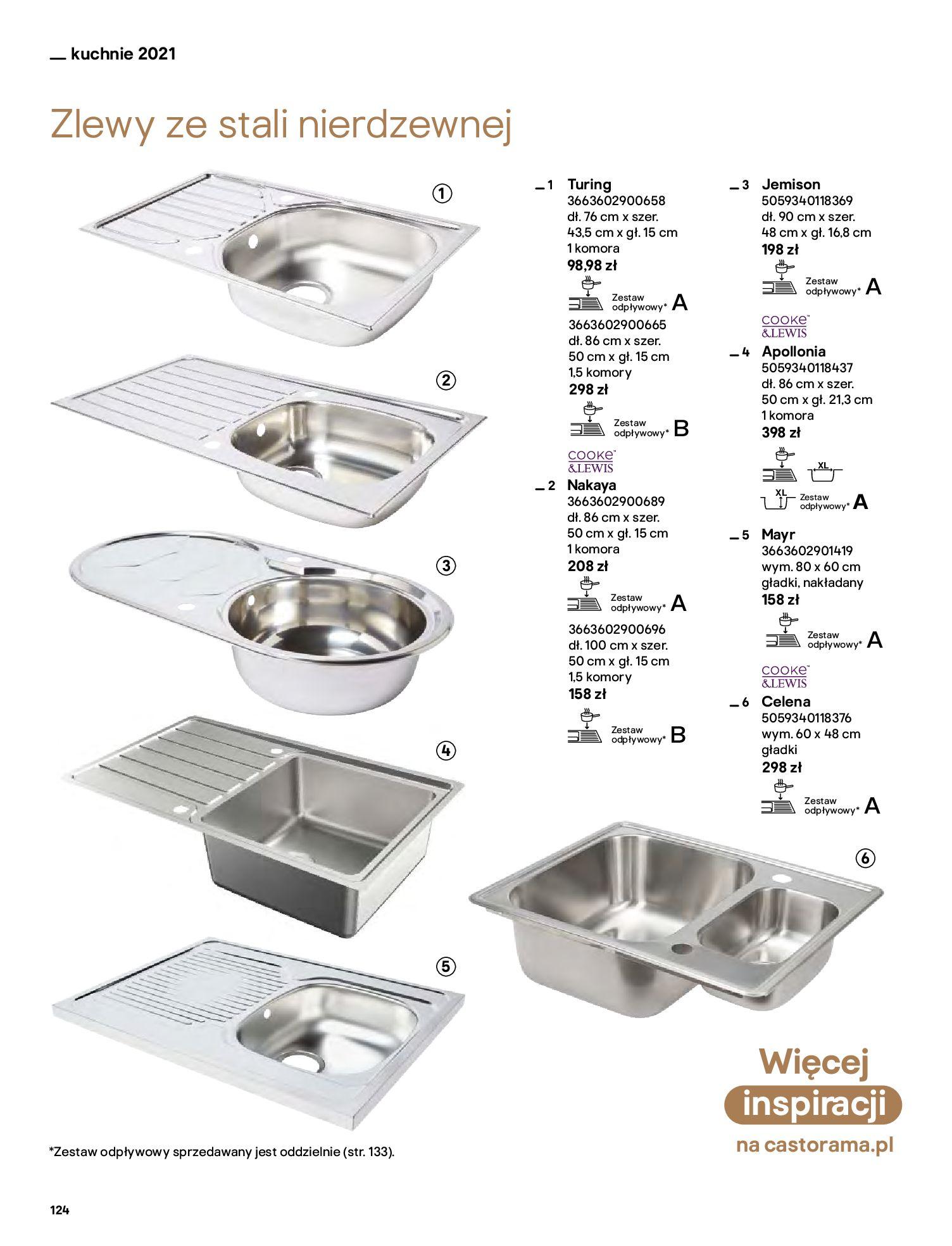 Gazetka Castorama: Katalog kuchnie 2021 2021-05-04 page-124