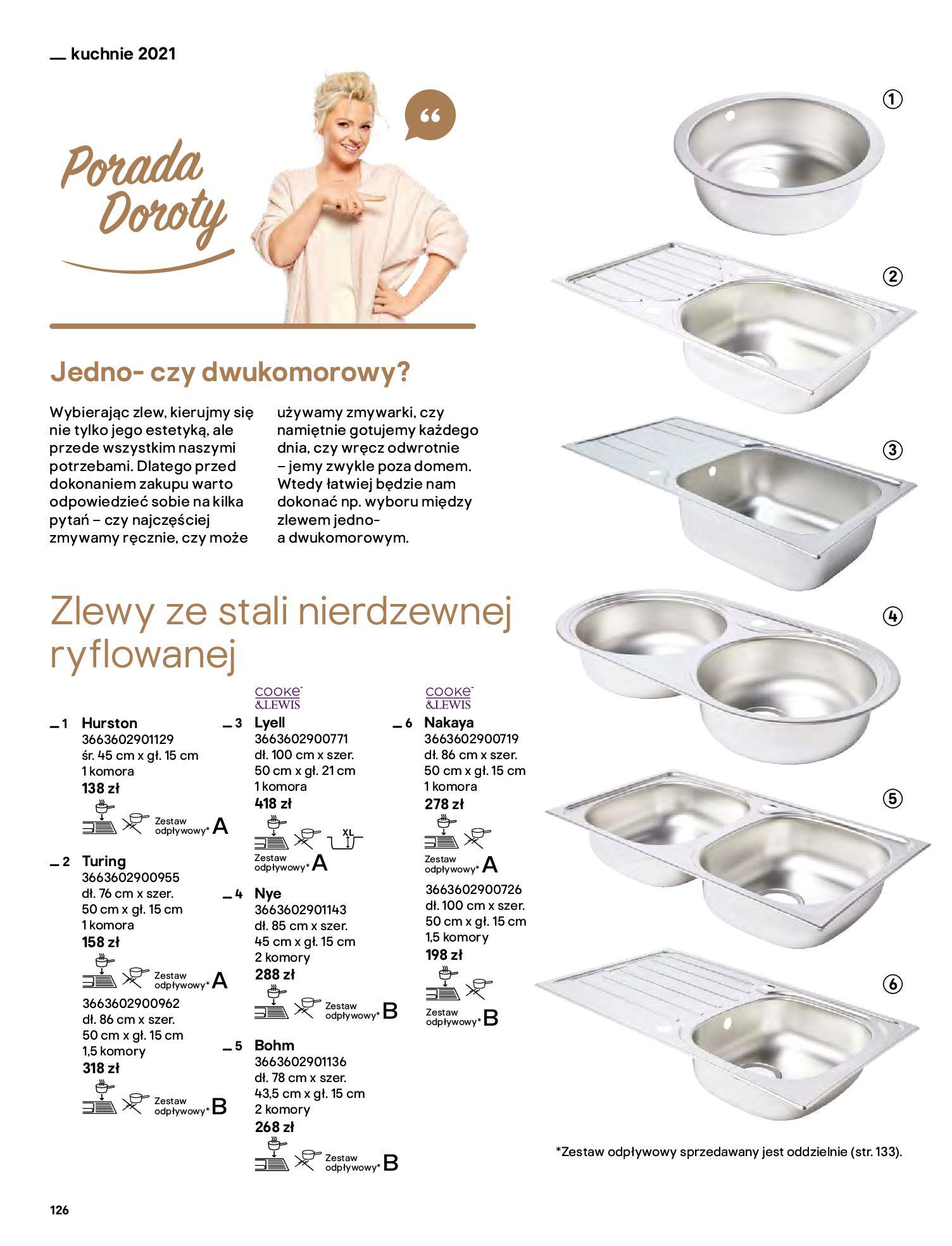 Gazetka Castorama: Katalog kuchnie 2021 2021-05-04 page-126