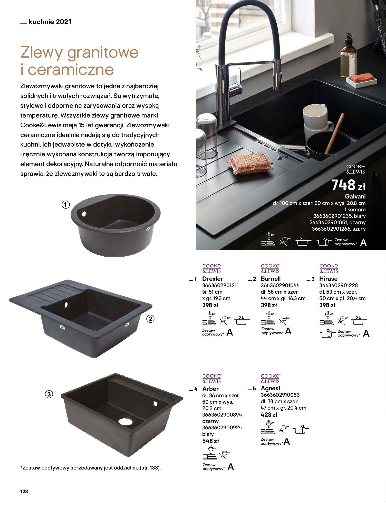 Gazetka Castorama: Katalog kuchnie 2021 2021-05-04 page-128