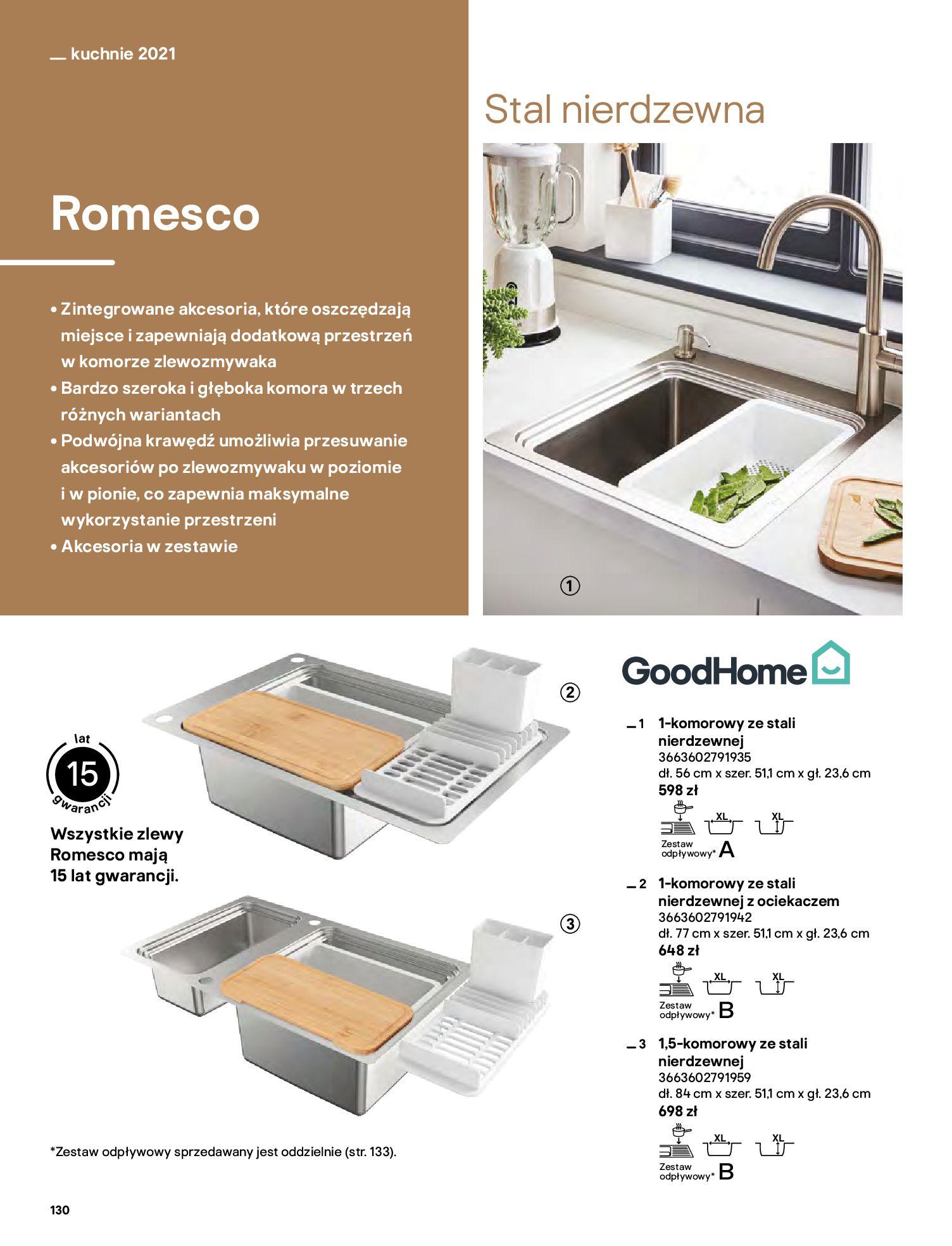 Gazetka Castorama: Katalog kuchnie 2021 2021-05-04 page-130