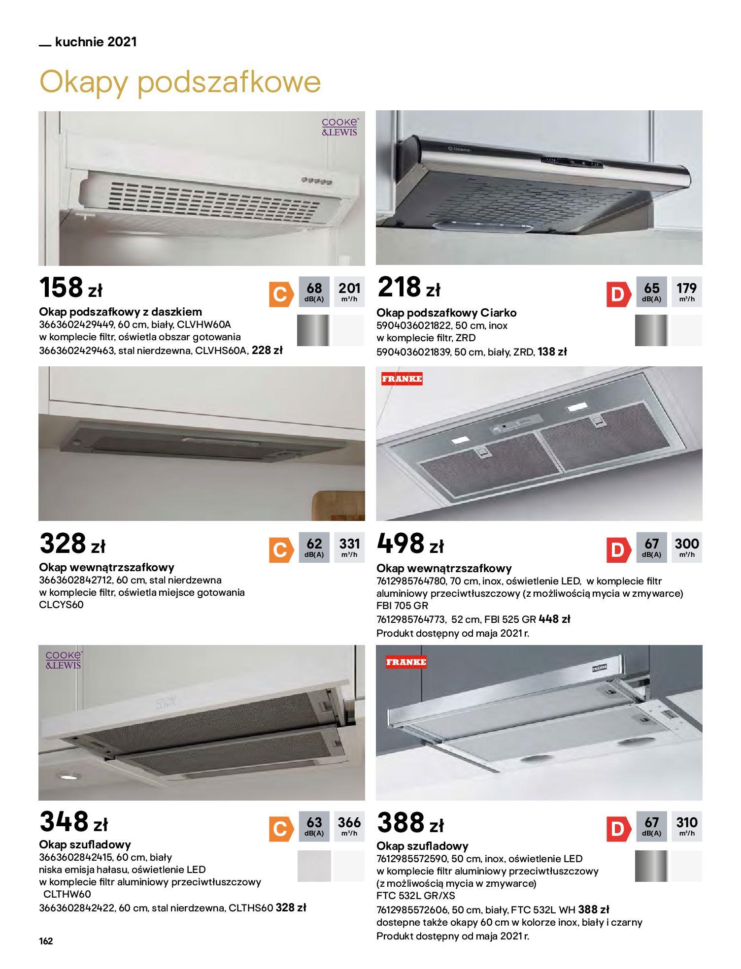 Gazetka Castorama: Katalog kuchnie 2021 2021-05-04 page-162