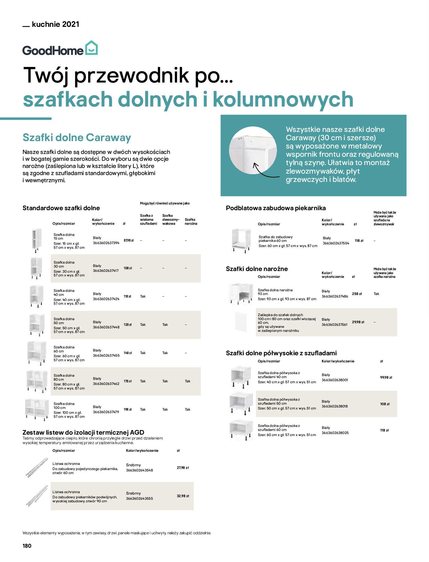Gazetka Castorama: Katalog kuchnie 2021 2021-05-04 page-180