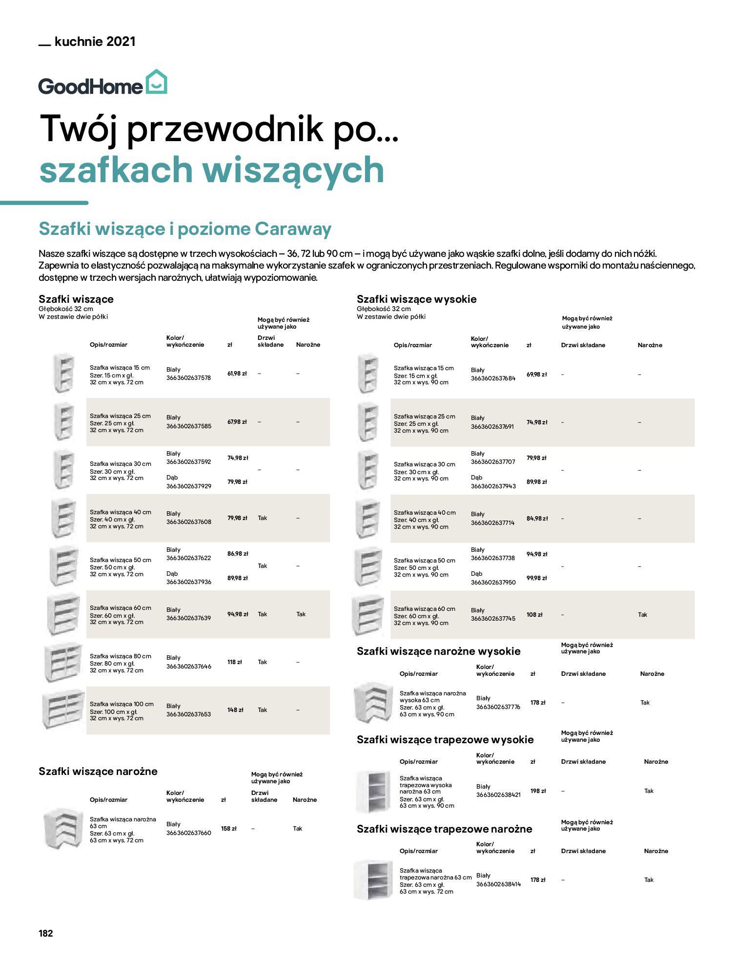 Gazetka Castorama: Katalog kuchnie 2021 2021-05-04 page-182
