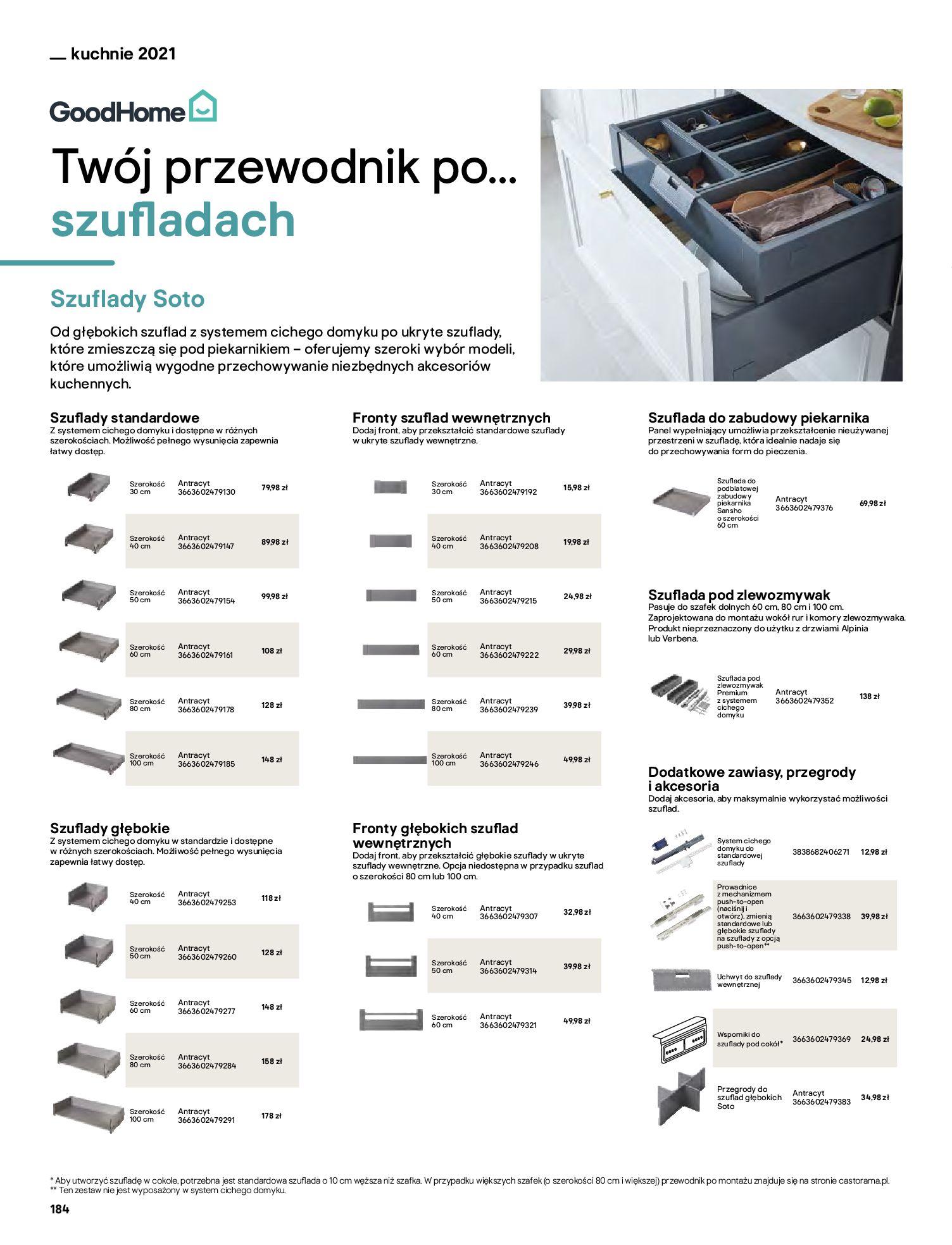 Gazetka Castorama: Katalog kuchnie 2021 2021-05-04 page-184