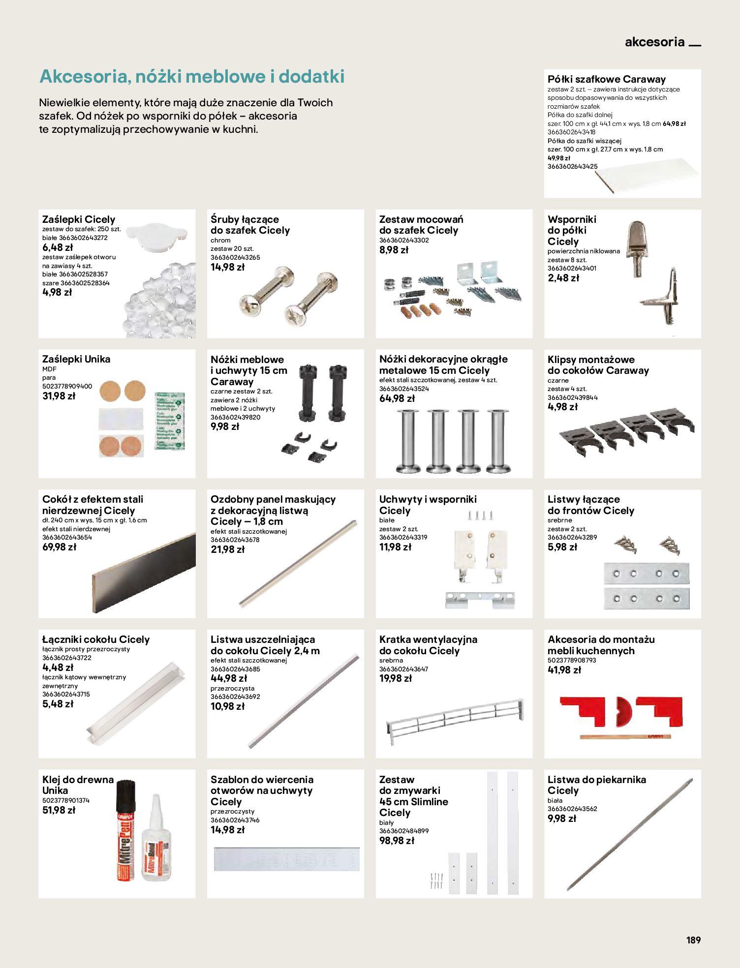 Gazetka Castorama: Katalog kuchnie 2021 2021-05-04 page-189