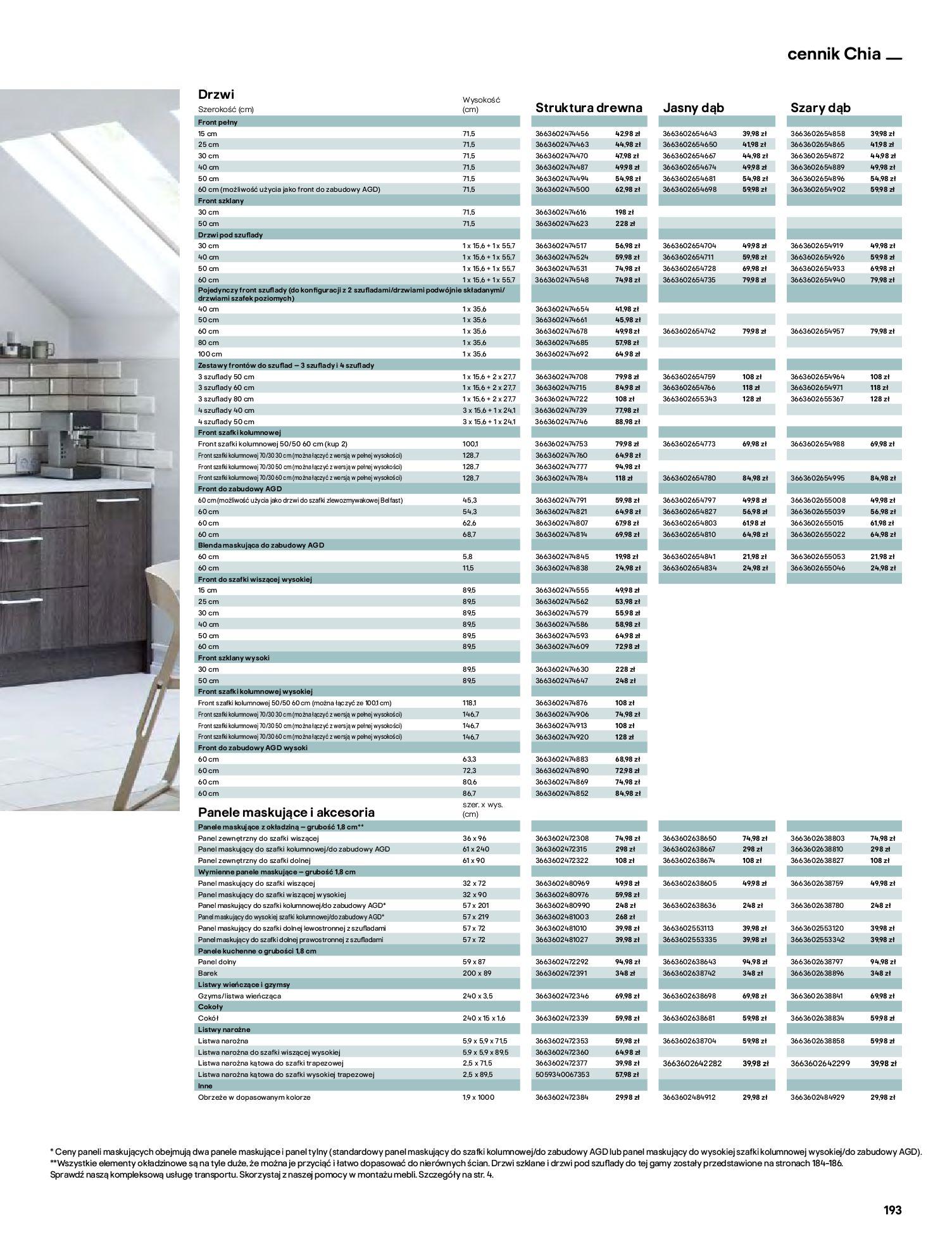 Gazetka Castorama: Katalog kuchnie 2021 2021-05-04 page-193