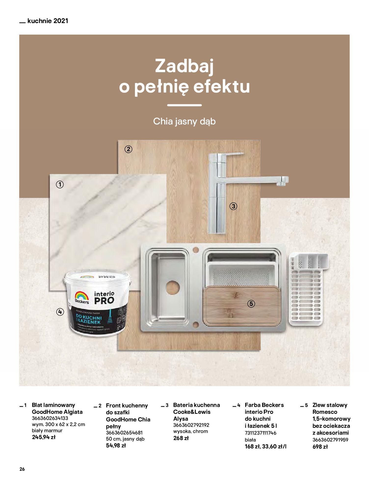 Gazetka Castorama: Katalog kuchnie 2021 2021-05-04 page-26