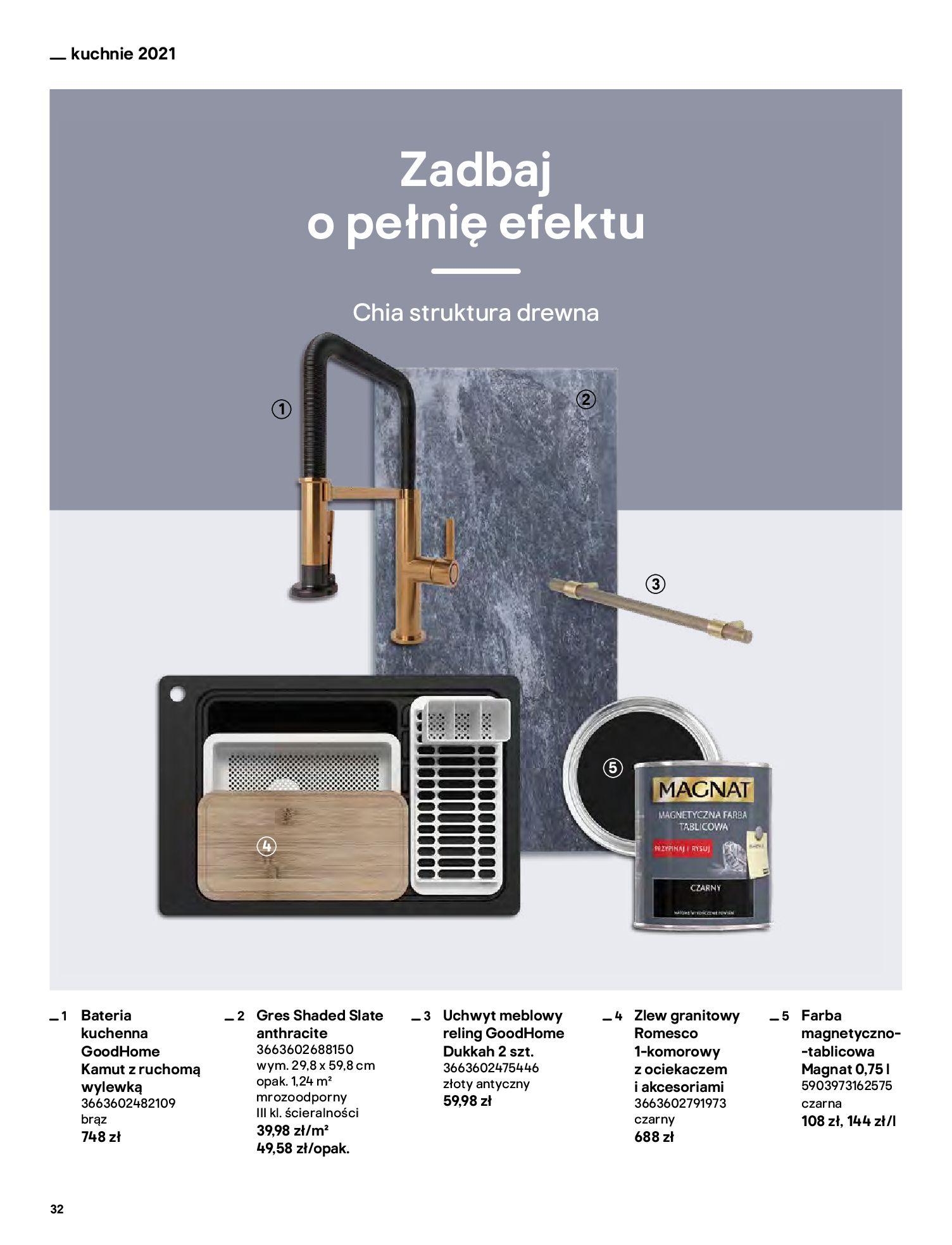 Gazetka Castorama: Katalog kuchnie 2021 2021-05-04 page-32