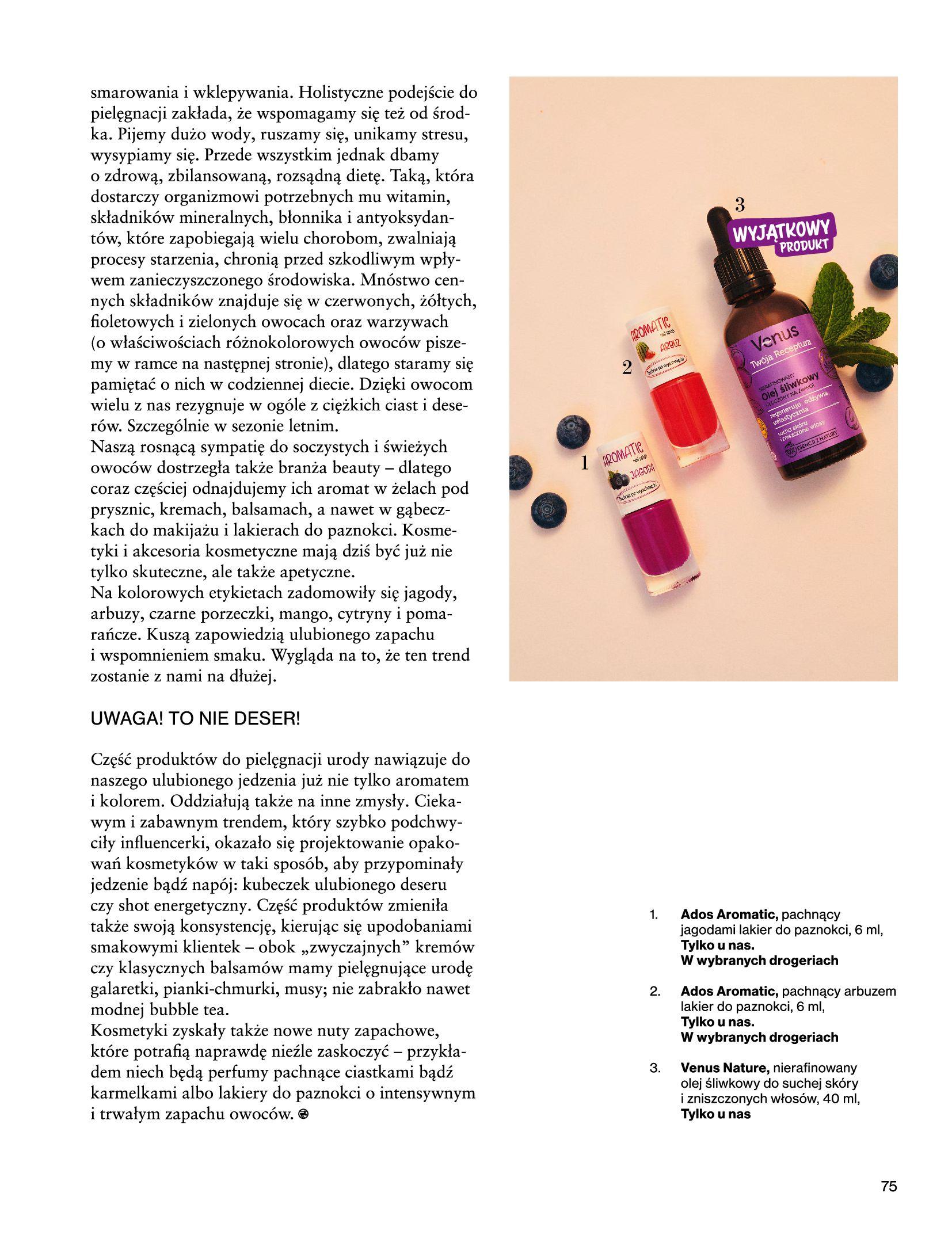 Gazetka Rossmann: Magazyn Rossmann - Skarb 2021-05-18 page-75