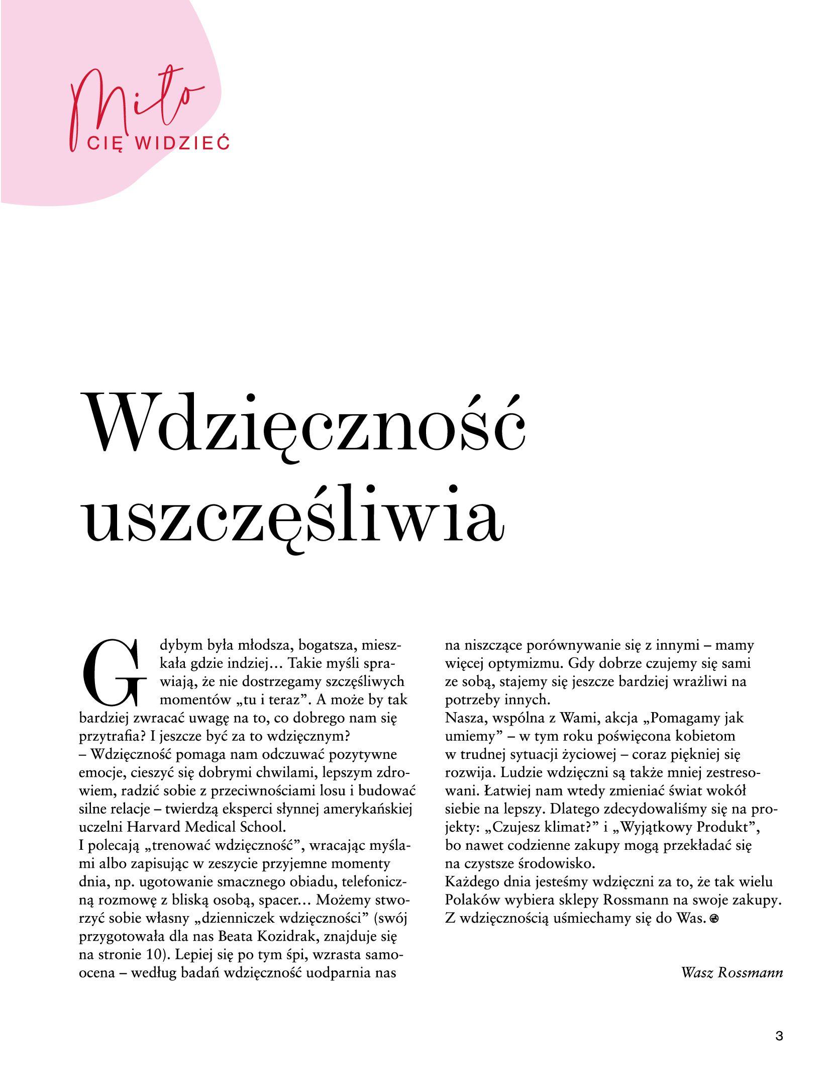 Gazetka Rossmann: Magazyn Rossmann - Skarb 2021-05-18 page-3