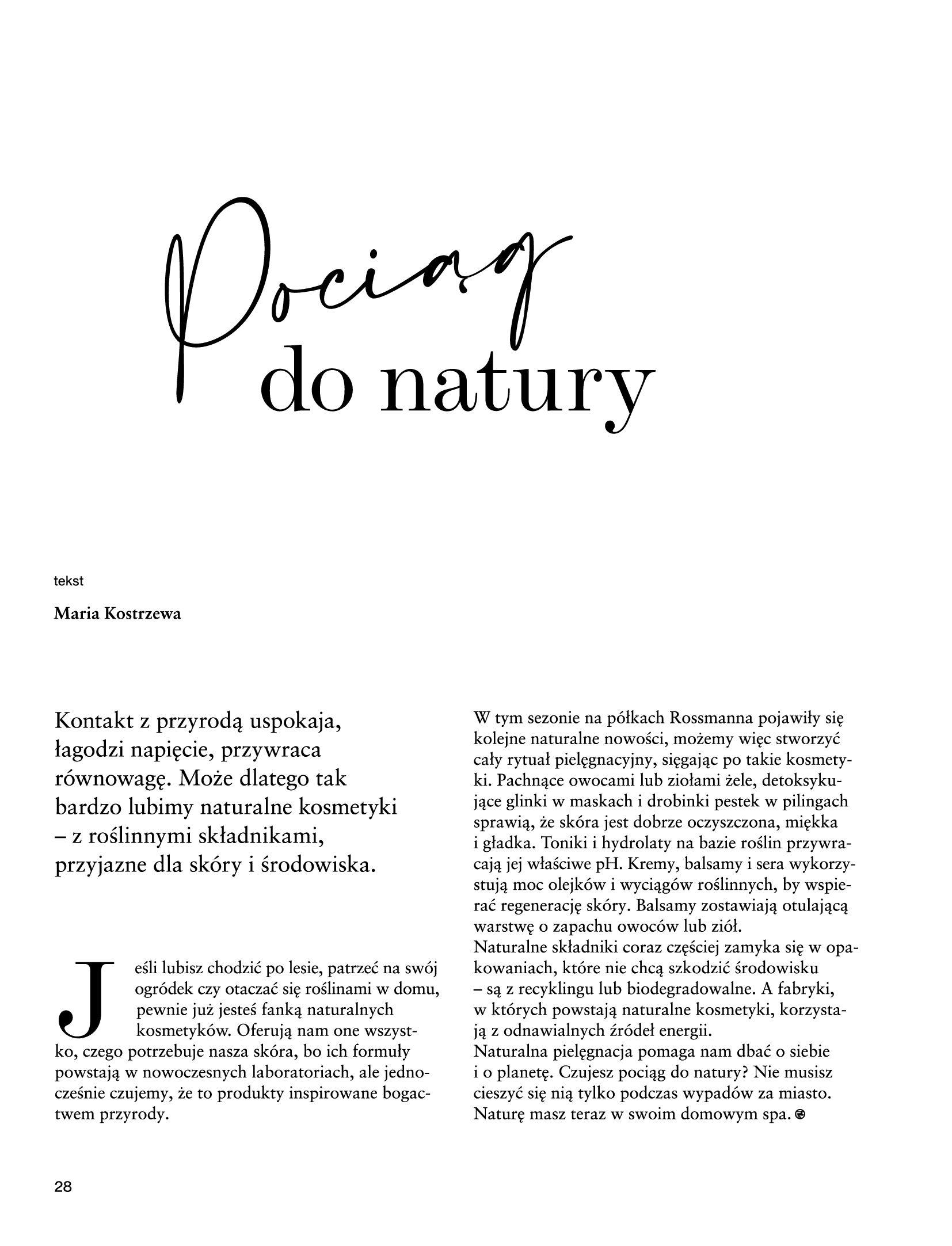 Gazetka Rossmann: Magazyn Rossmann - Skarb 2021-05-18 page-28