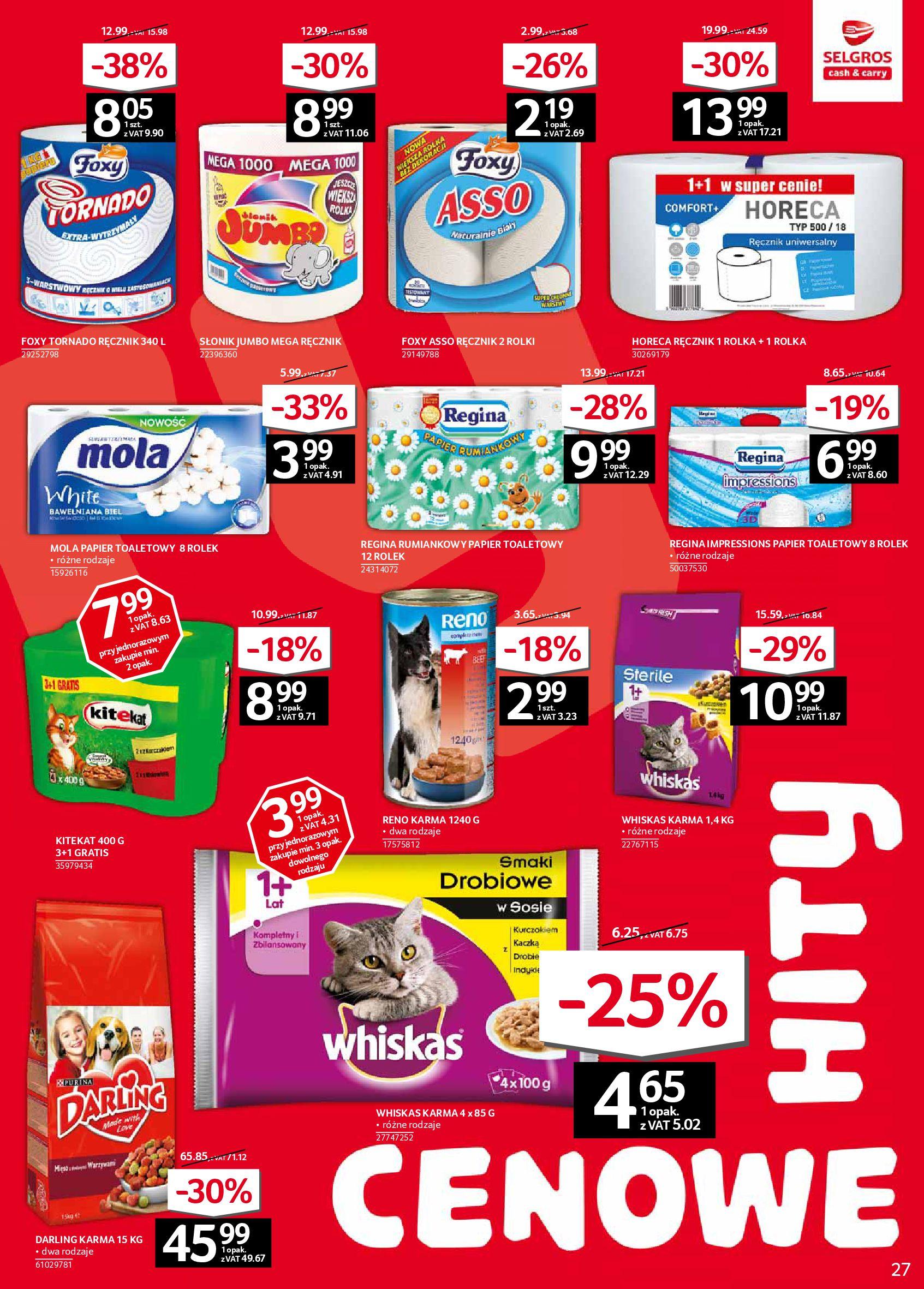 Gazetka Selgros - Oferta spożywcza-05.02.2020-19.02.2020-page-27