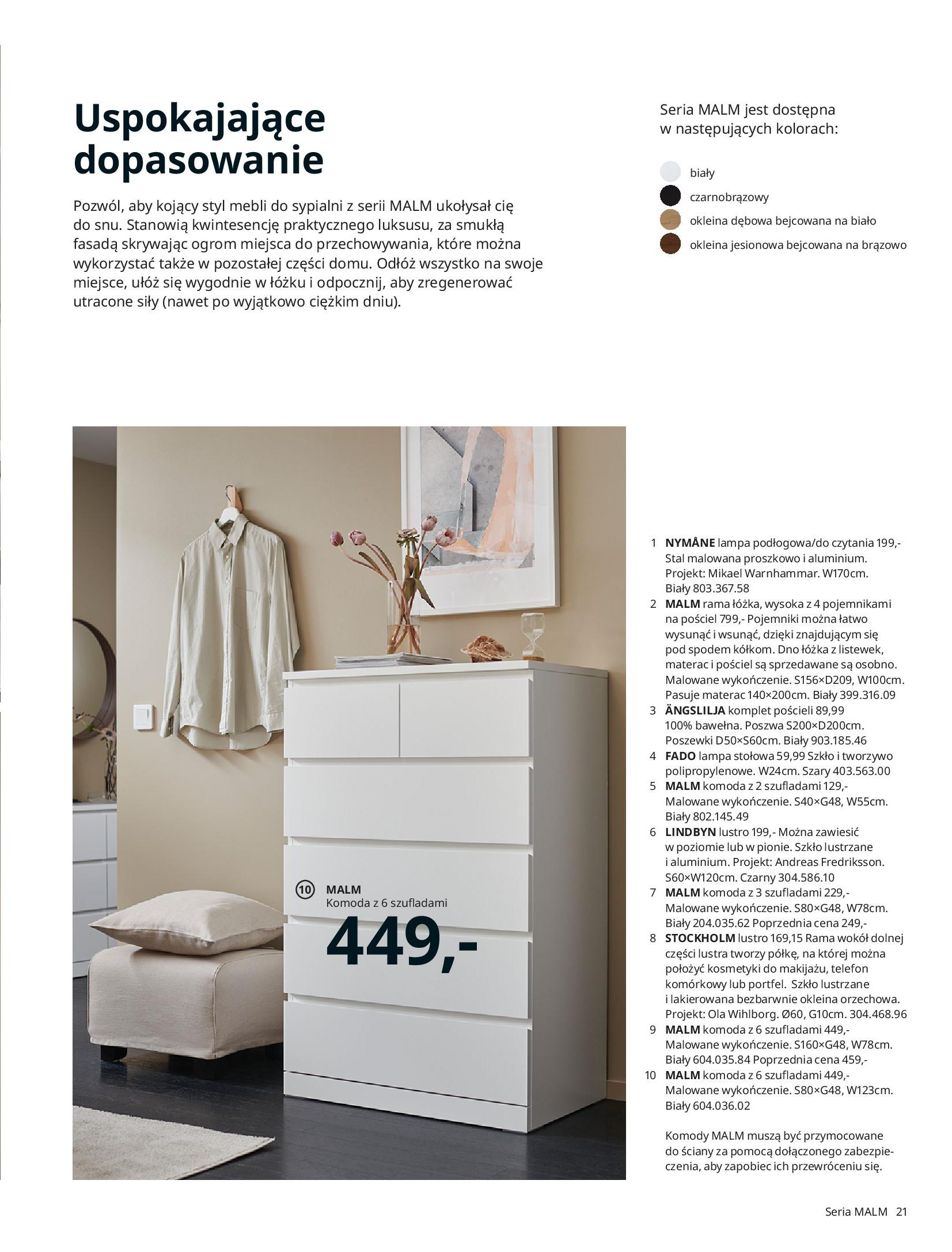 Gazetka IKEA: SYPIALNIA 2021 2021-01-13 page-21