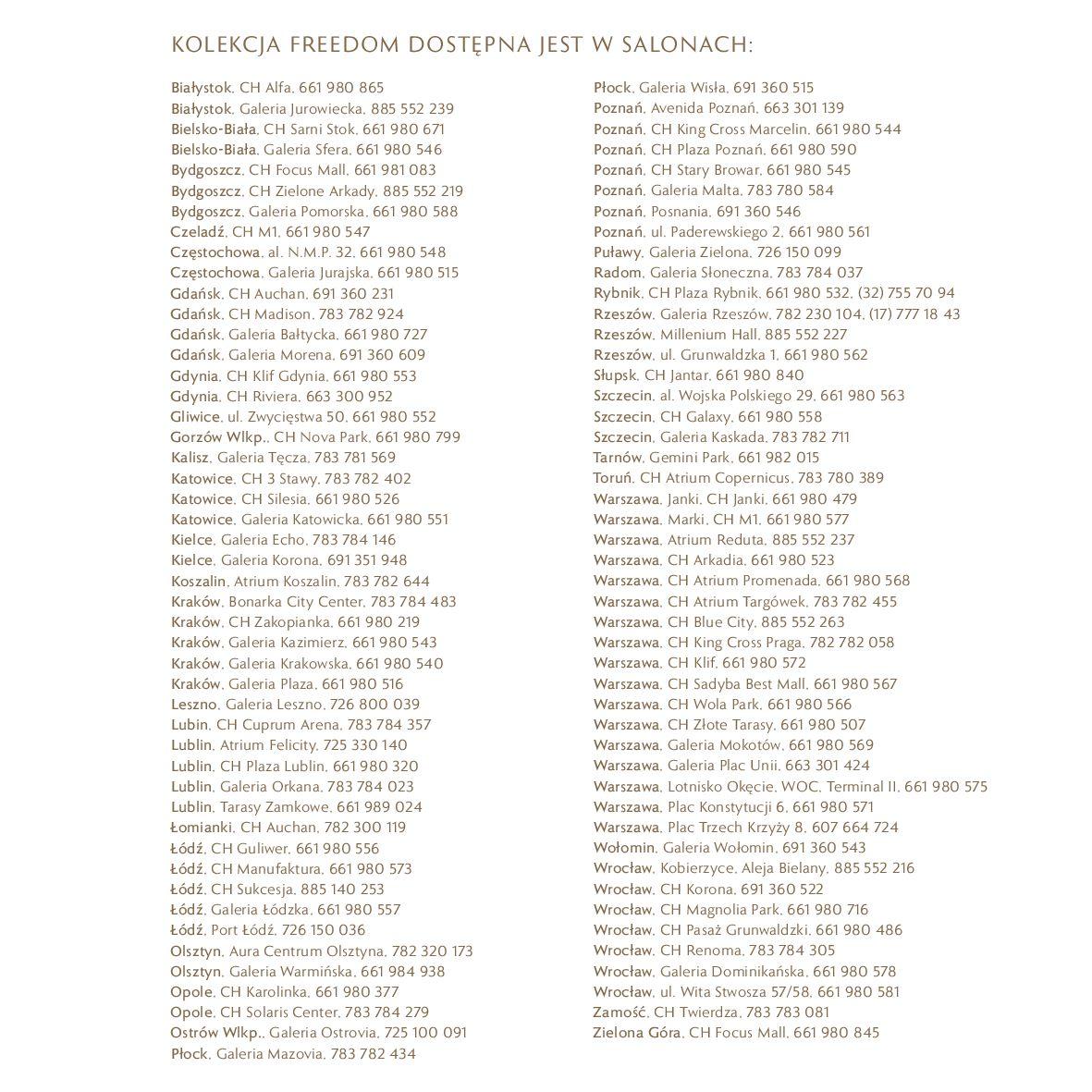 Gazetka W. KRUK: Katalog - Kolekcja Freedom 2021-02-17 page-44