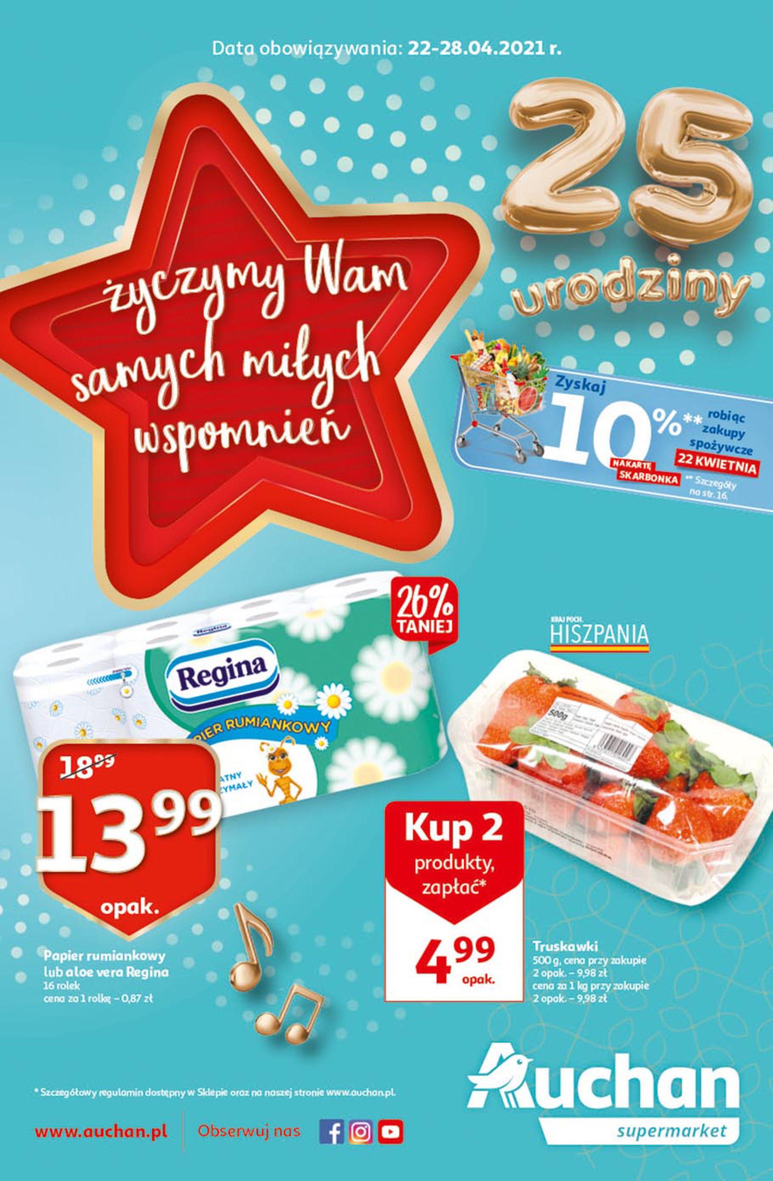 Auchan:  Gazetka supermarket 21.04.2021