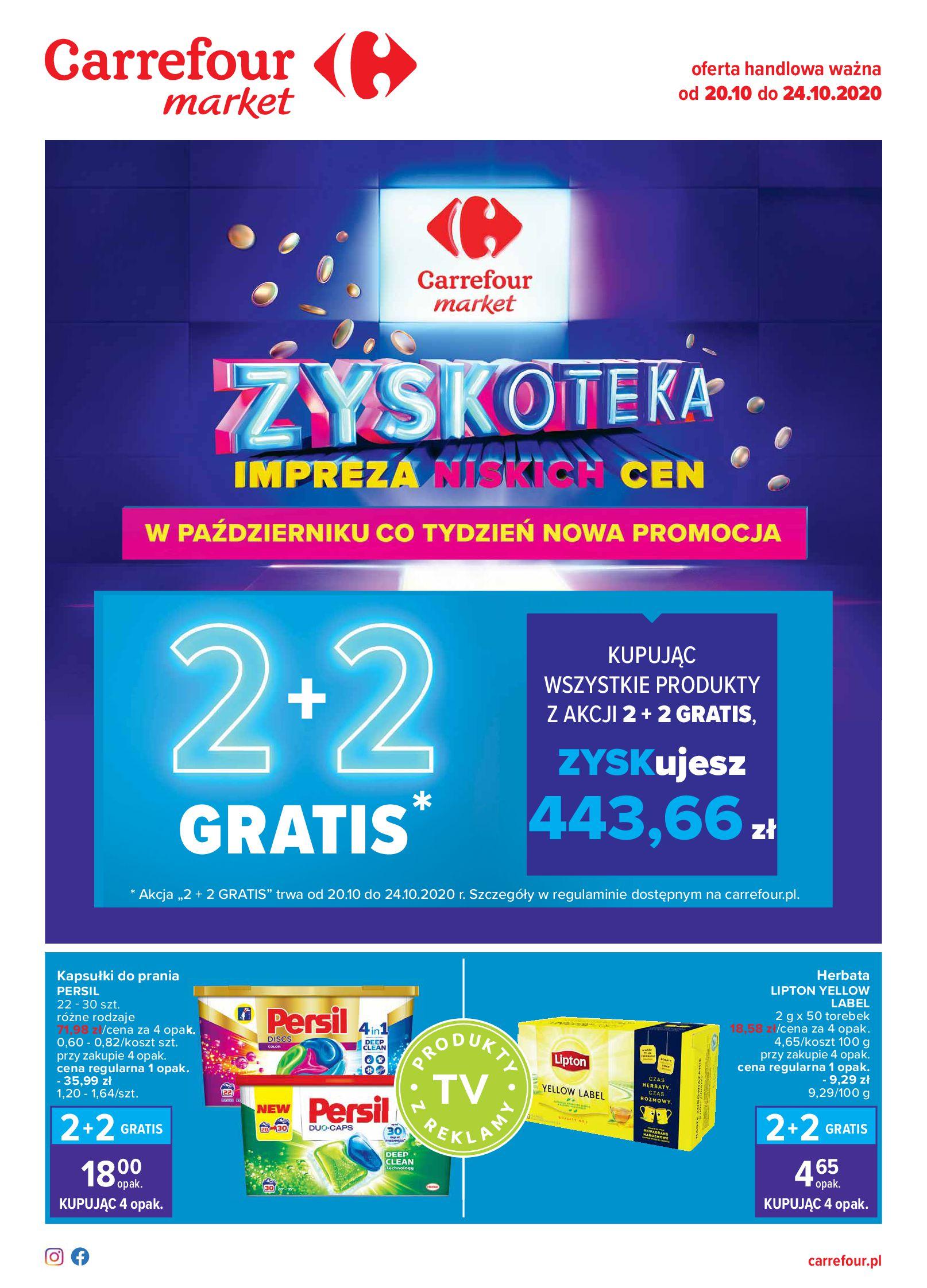 Gazetka Carrefour Market - Oferta handlowa-19.10.2020-24.10.2020-page-1