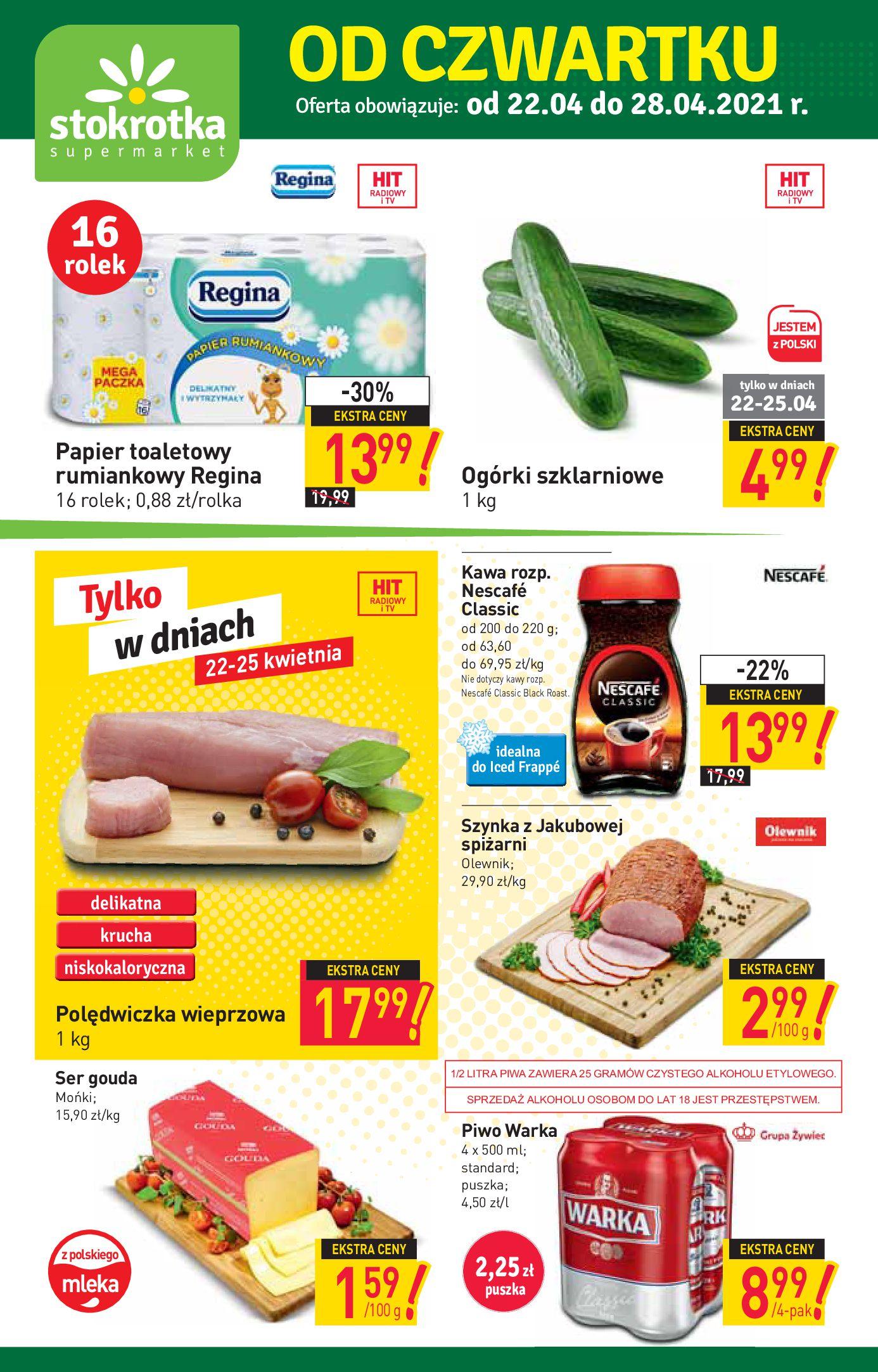 Stokrotka Supermarket:  Oferta handlowa 21.04.2021
