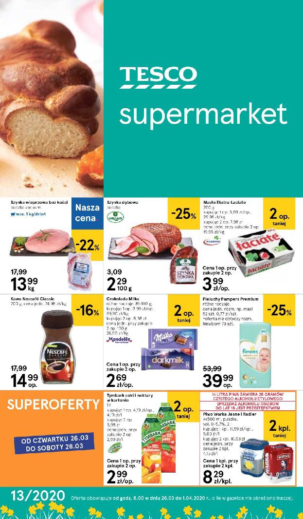 Gazetka Tesco Supermarket - Oferta promocyjna-25.03.2020-01.04.2020-page-1