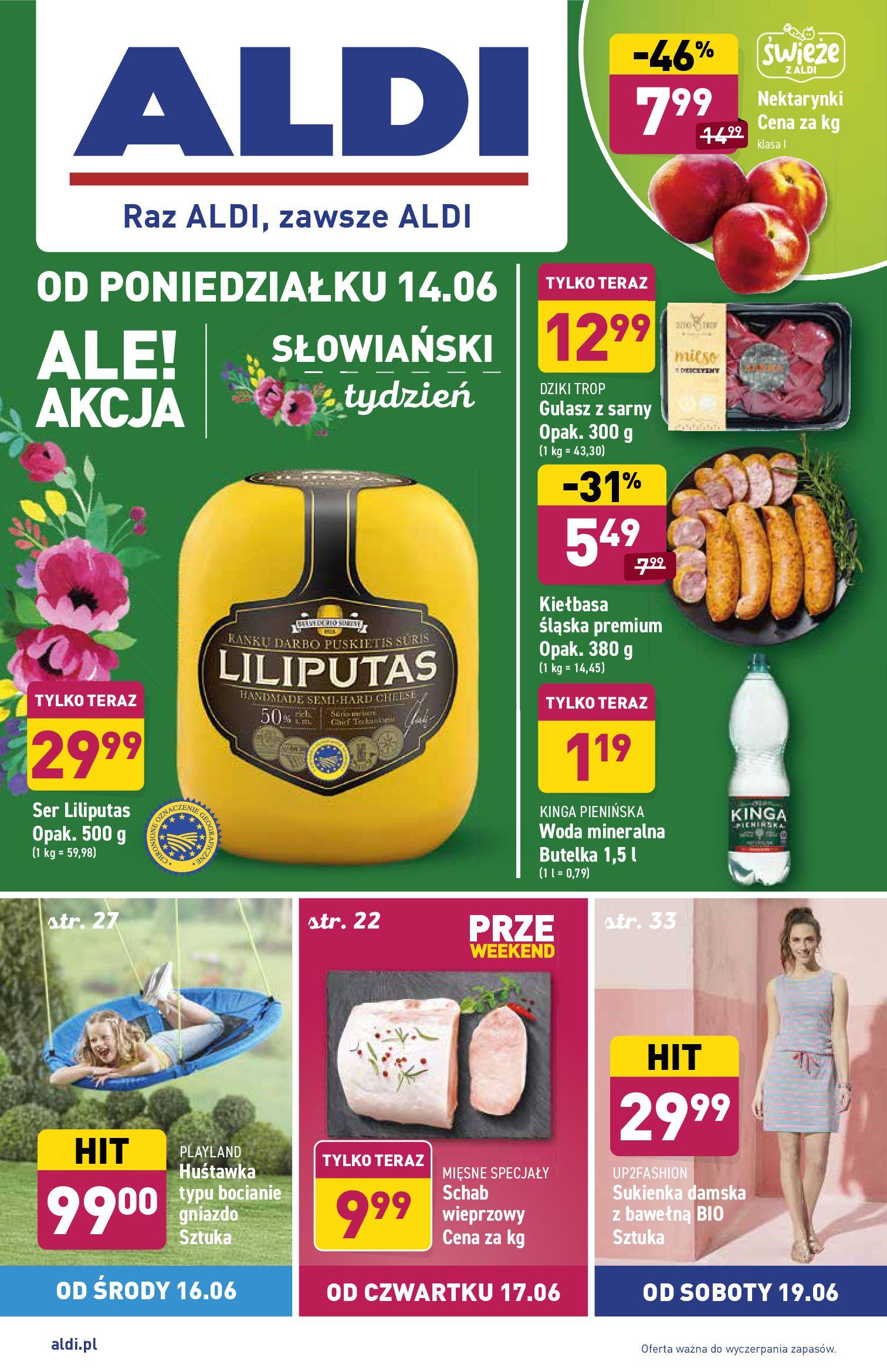 Aldi:  Gazetka Aldi - Słowiański tydzień 13.06.2021