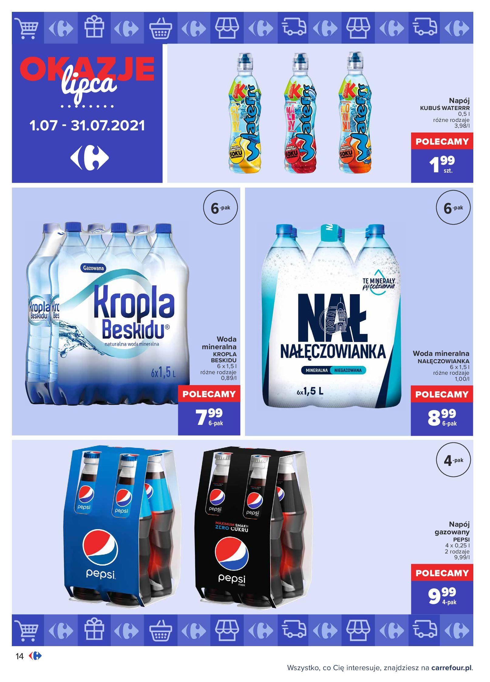 Gazetka Carrefour: Gazetka Carrefour - Okazje lipca 2021-07-01 page-14