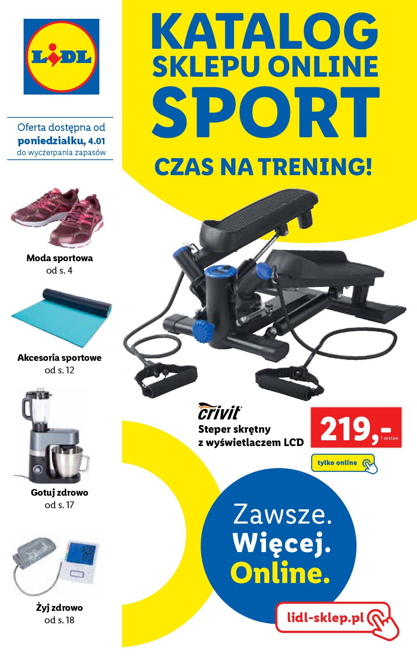 Gazetka Lidl: Katalog ONLINE-SPORT 2021-01-04