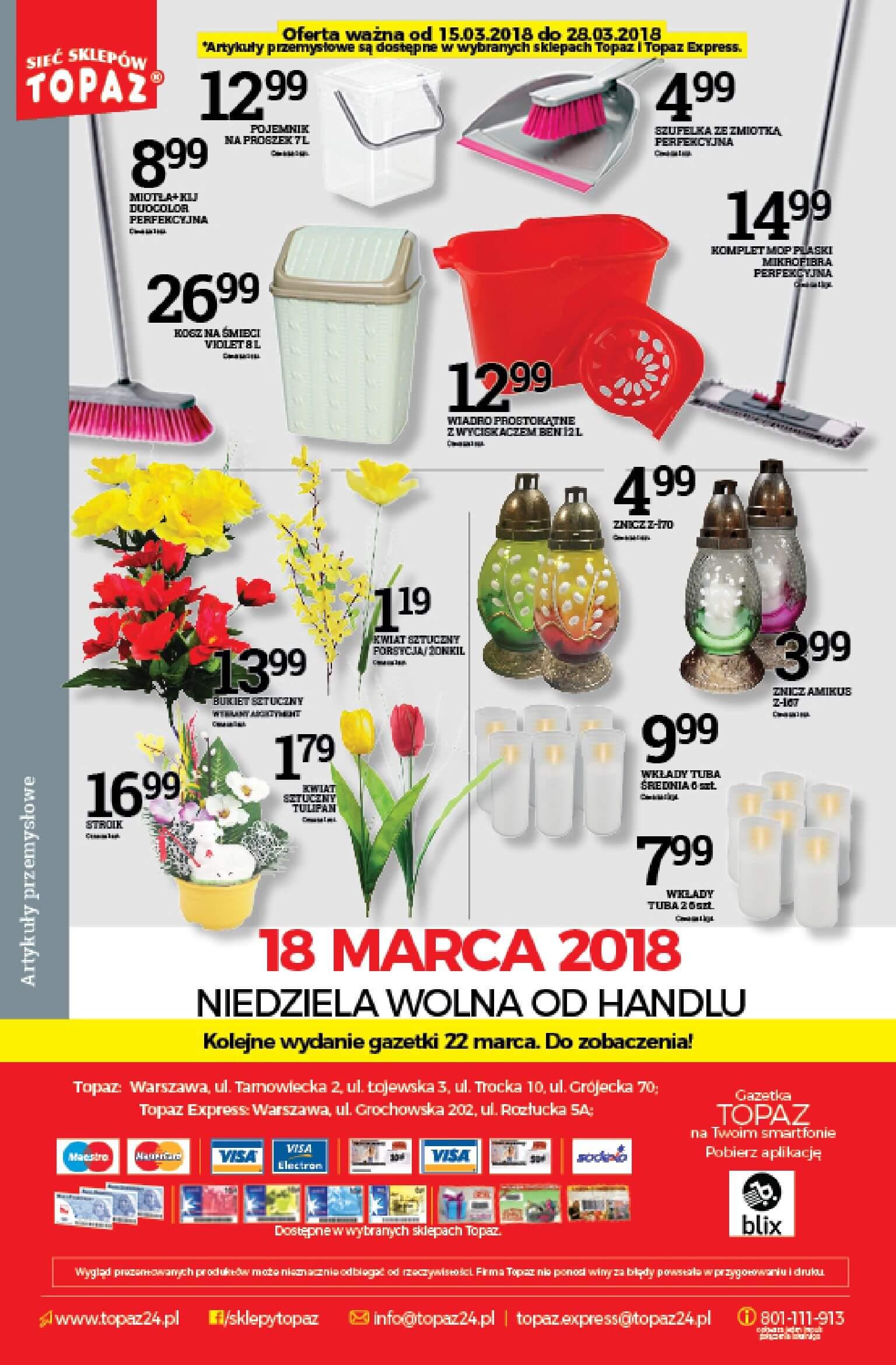 Gazetka TOPAZ - Oferta na art. spożywcze-14.03.2018-21.03.2018-page-