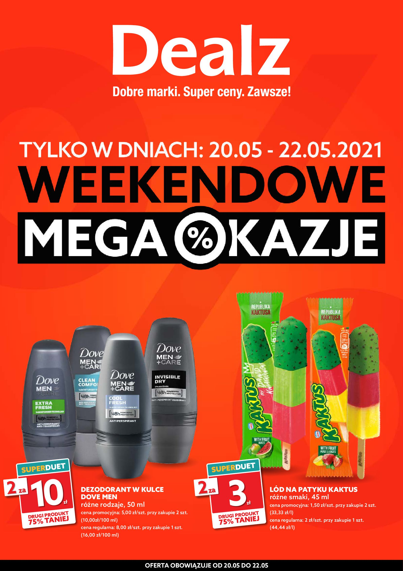 Dealz :  Gazetka Dealz - weekendowe okazje 19.05.2021