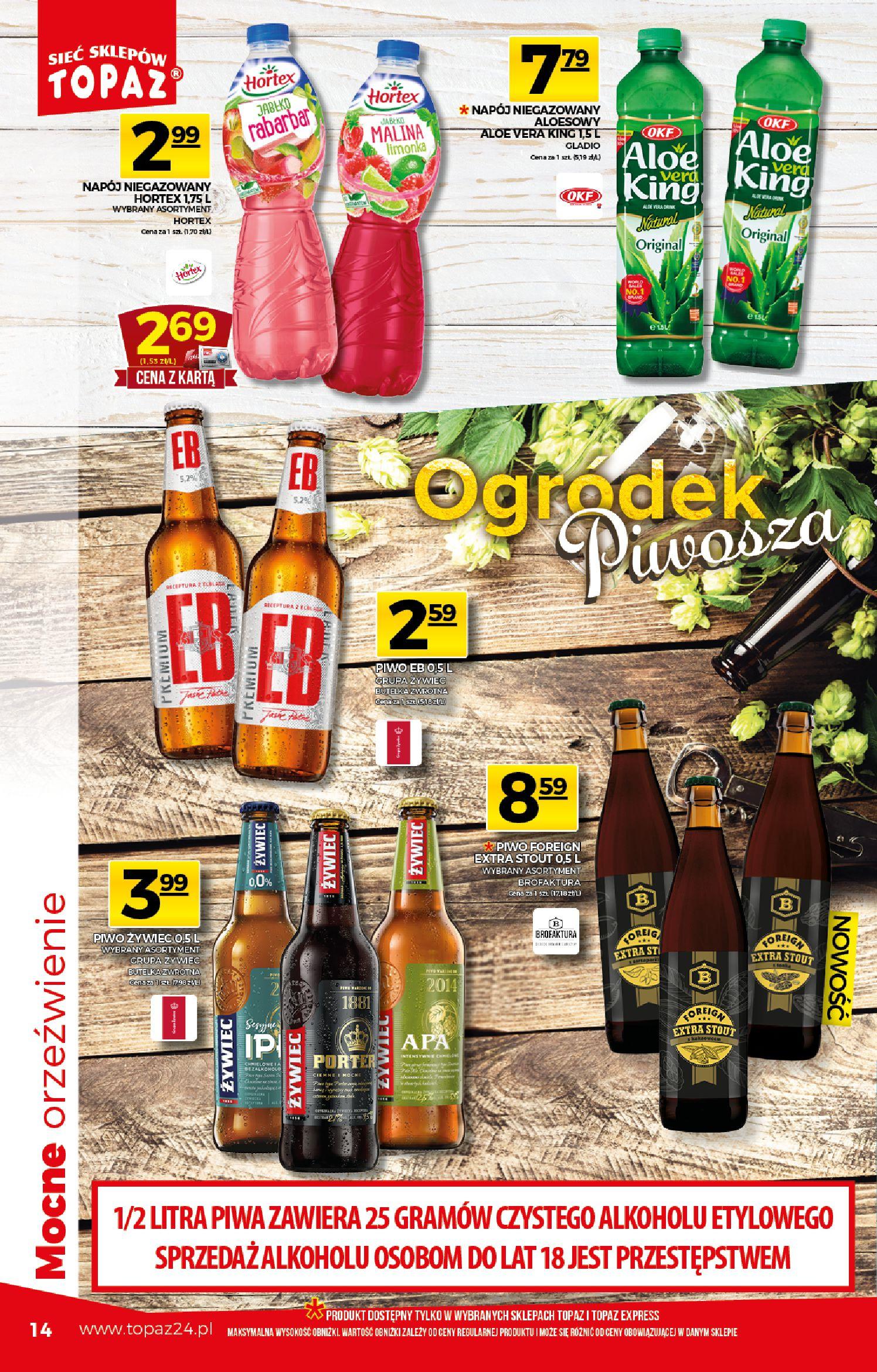 Gazetka TOPAZ - Gazetka promocyjna-25.03.2020-01.04.2020-page-14