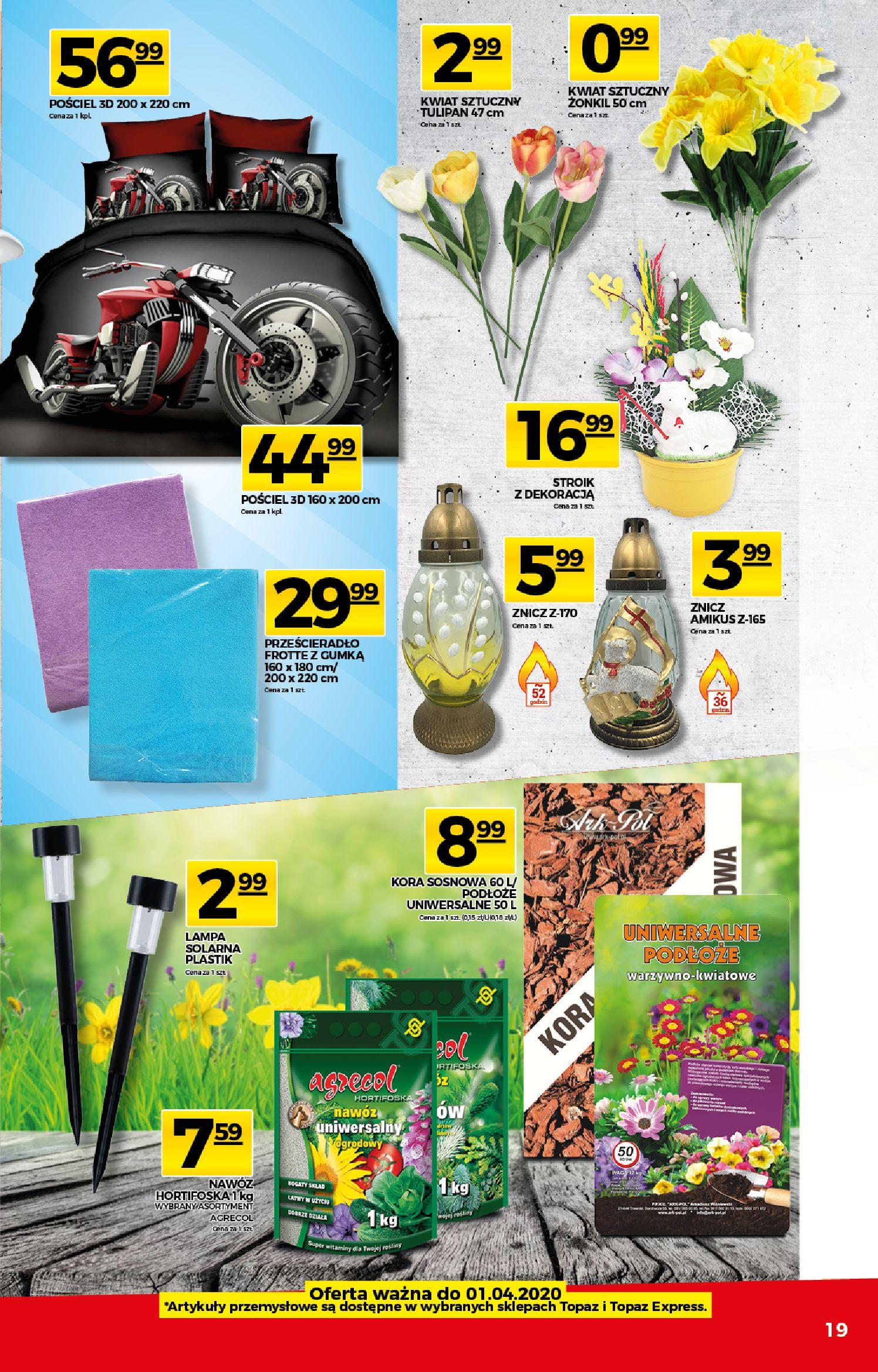 Gazetka TOPAZ - Gazetka promocyjna-25.03.2020-01.04.2020-page-19