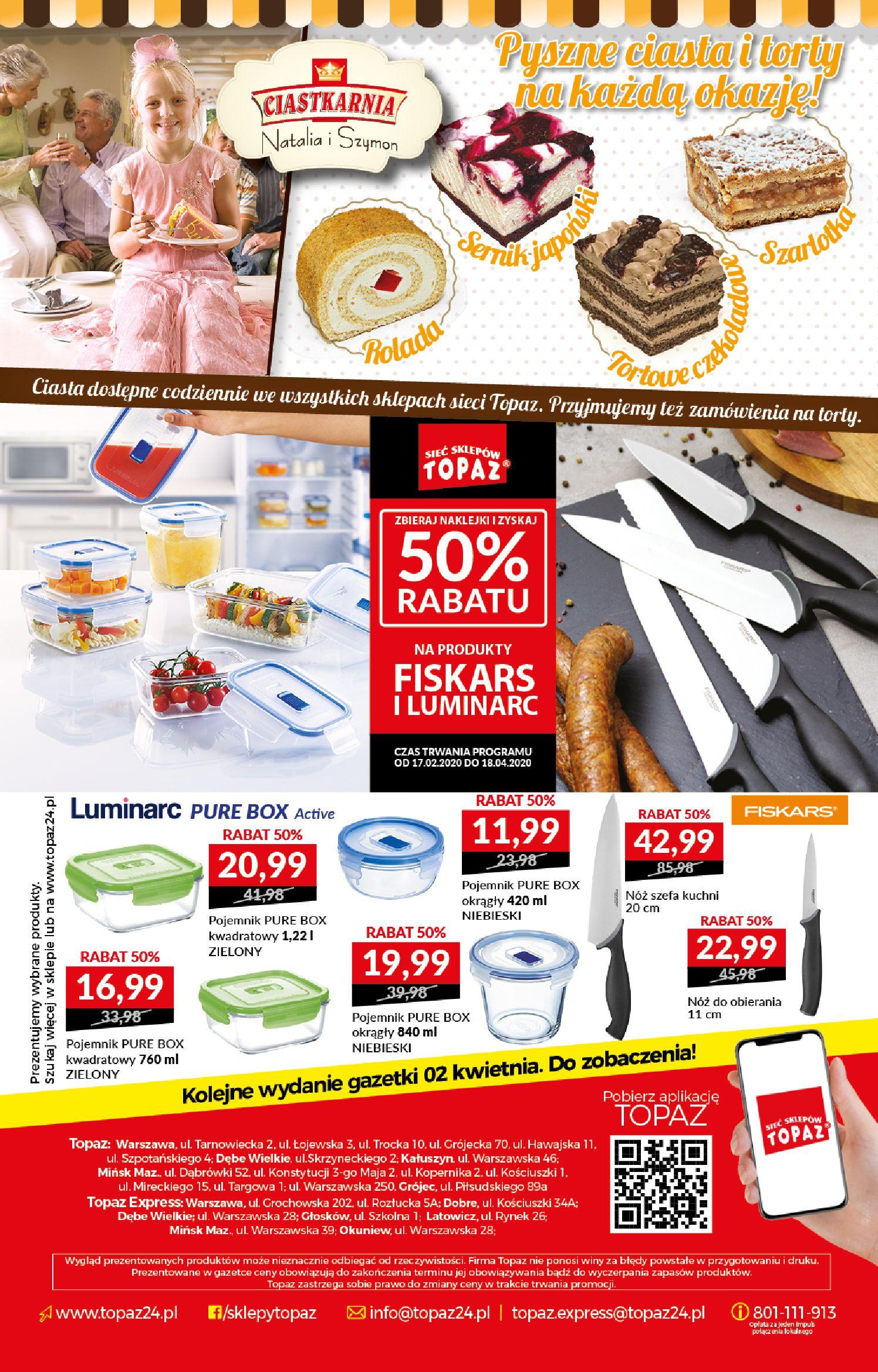 Gazetka TOPAZ - Gazetka promocyjna-25.03.2020-01.04.2020-page-20