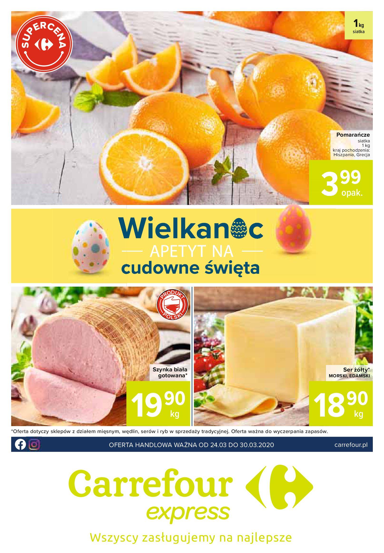 Gazetka Carrefour Express - Oferta handlowa-23.03.2020-30.03.2020-page-1