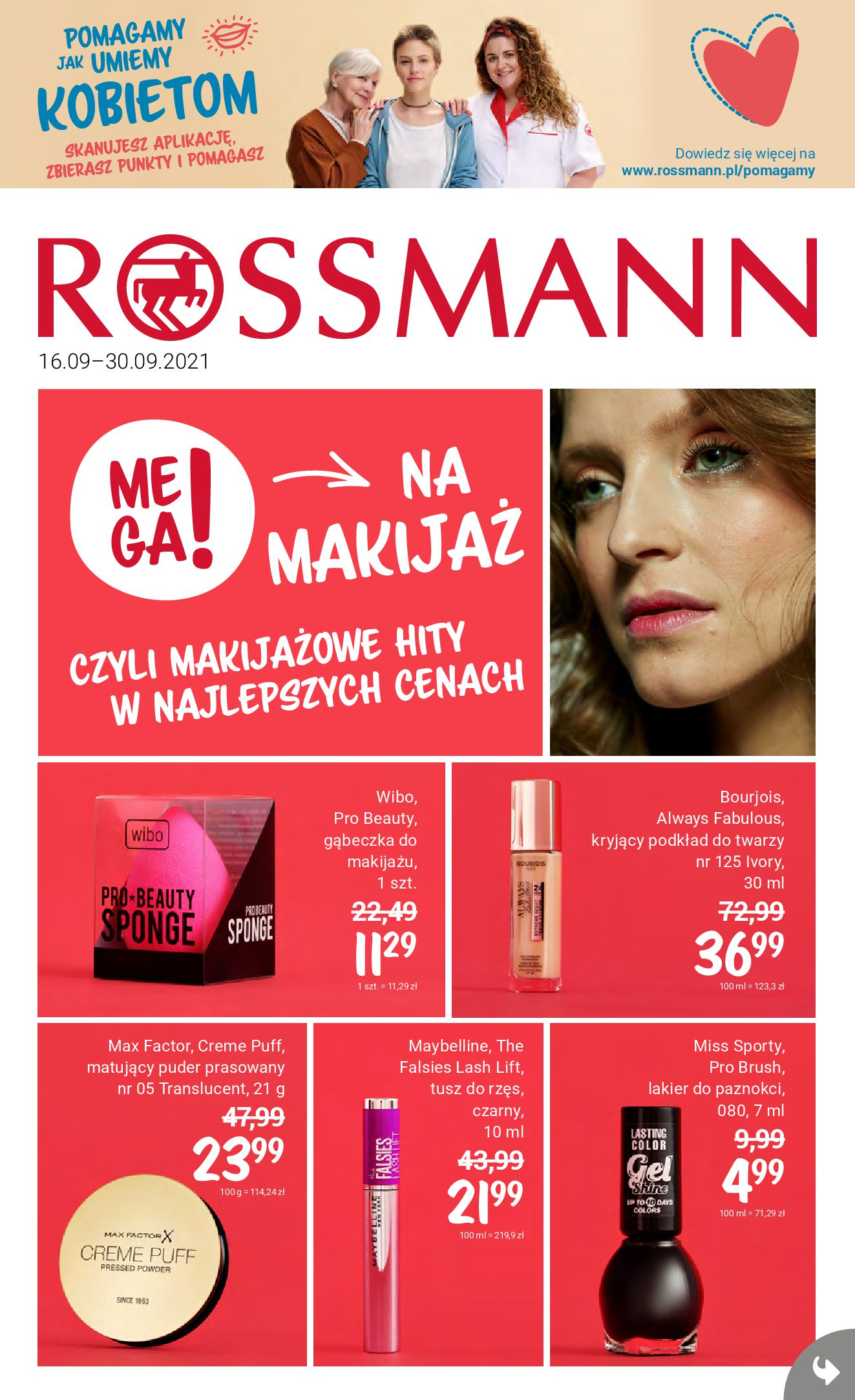 Rossmann:  Gazetka Rossmann 15.09.2021