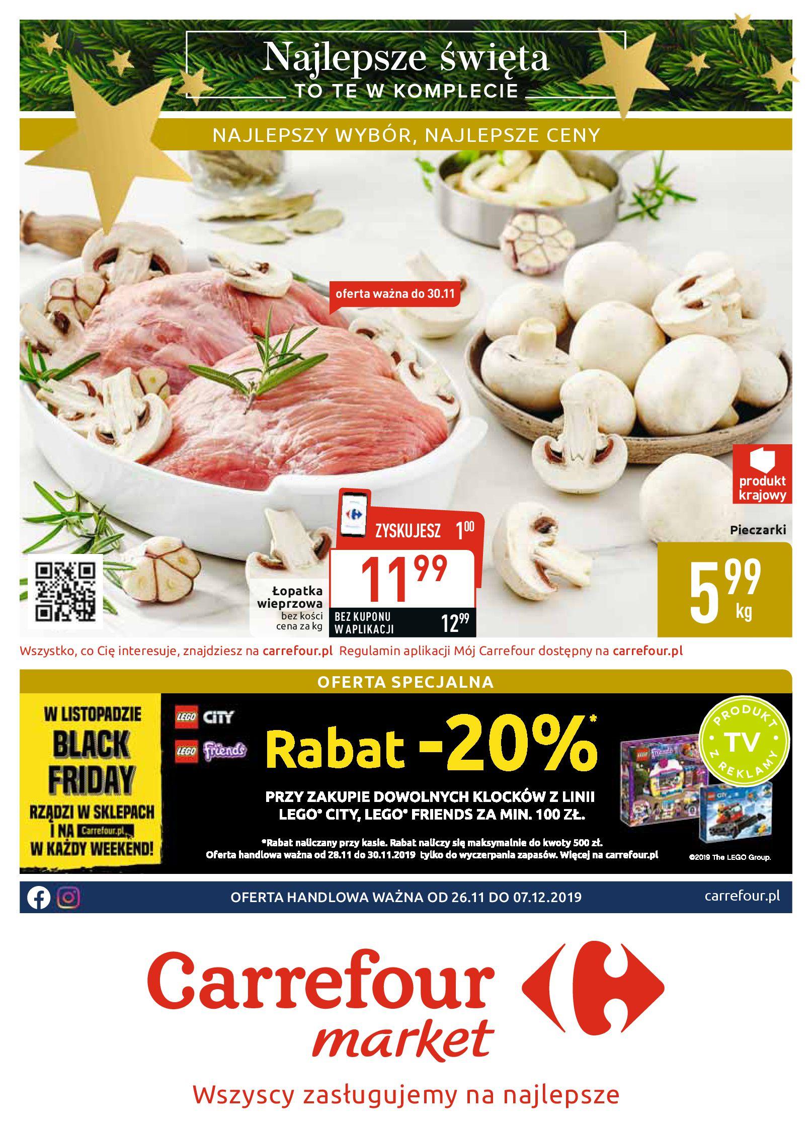Gazetka Carrefour Market - Najlepszy wybór, najlepsze ceny-25.11.2019-07.12.2019-page-1