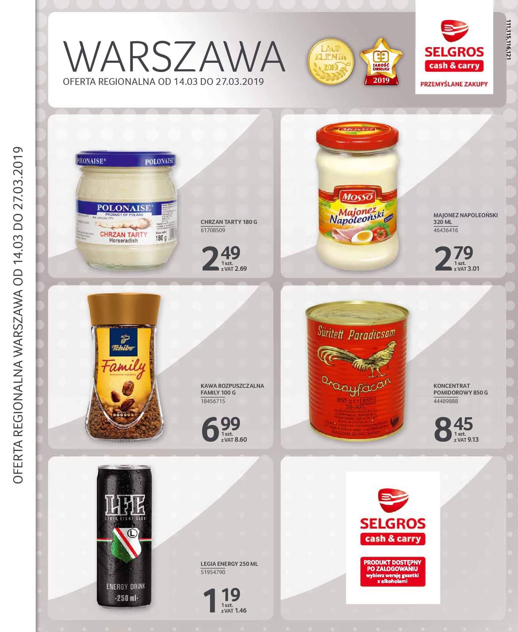 Gazetka Selgros - Oferta na art. spożywcze i chemię gospodarczą-13.03.2019-27.03.2019-page-