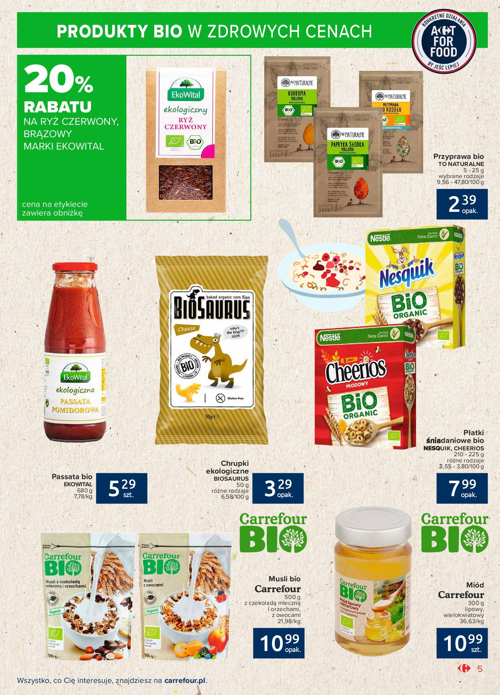 Gazetka Carrefour Market: Gazetka Market - Możemy mądrze jeść 2021-09-14 page-5