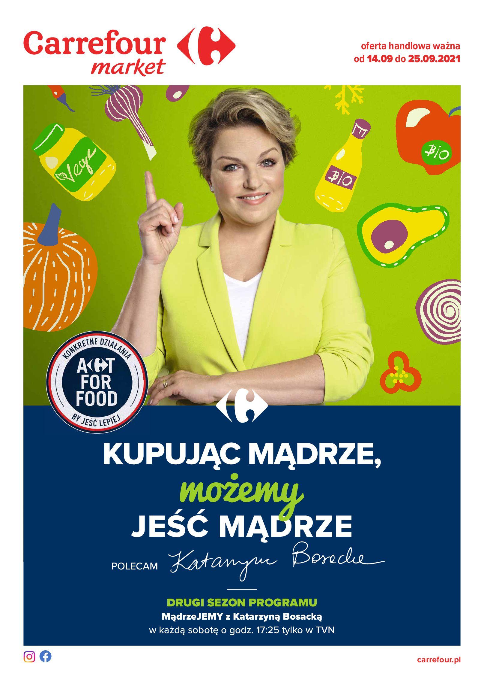 Gazetka Carrefour Market: Gazetka Market - Możemy mądrze jeść 2021-09-14 page-1