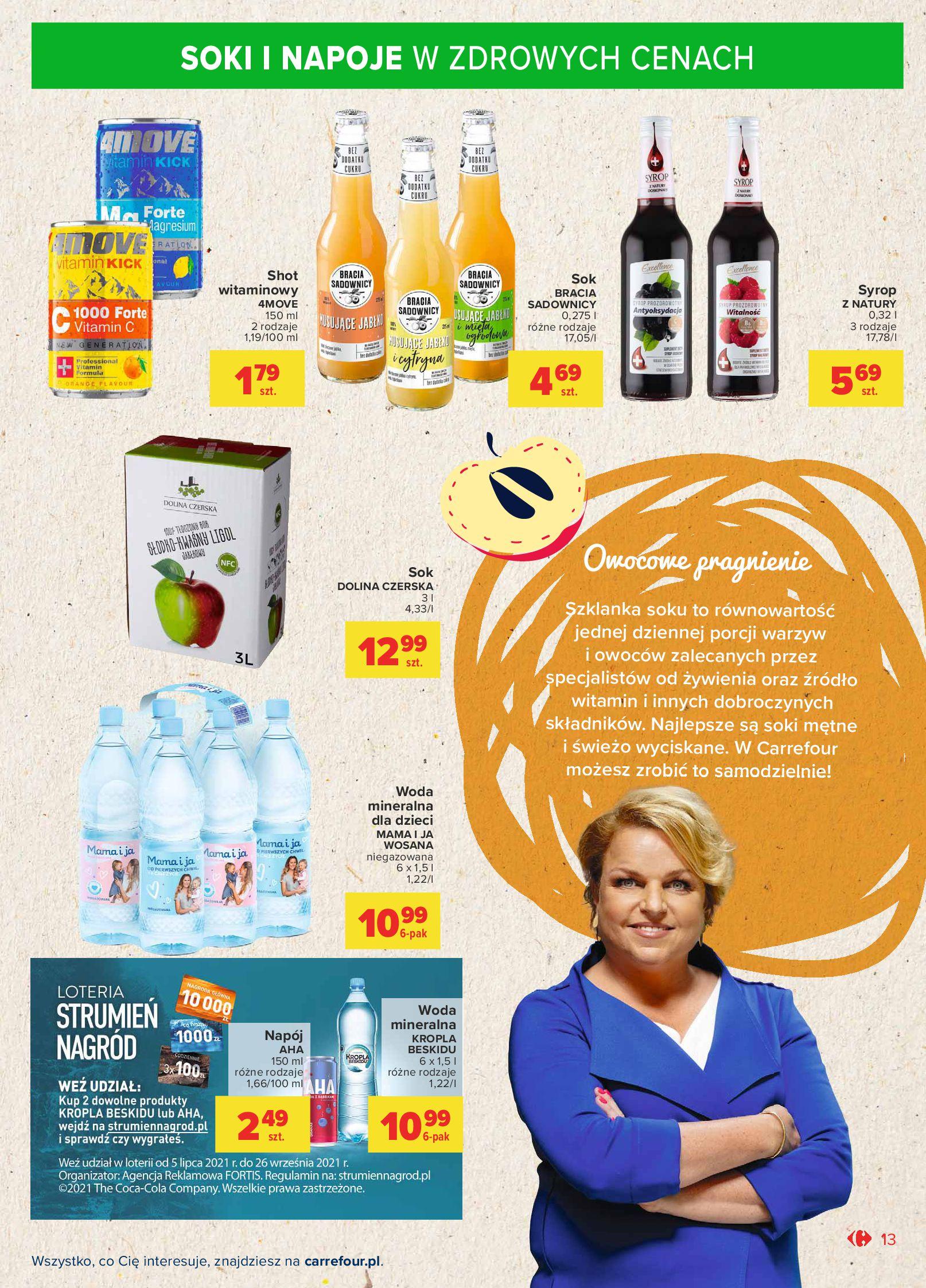 Gazetka Carrefour Market: Gazetka Market - Możemy mądrze jeść 2021-09-14 page-13