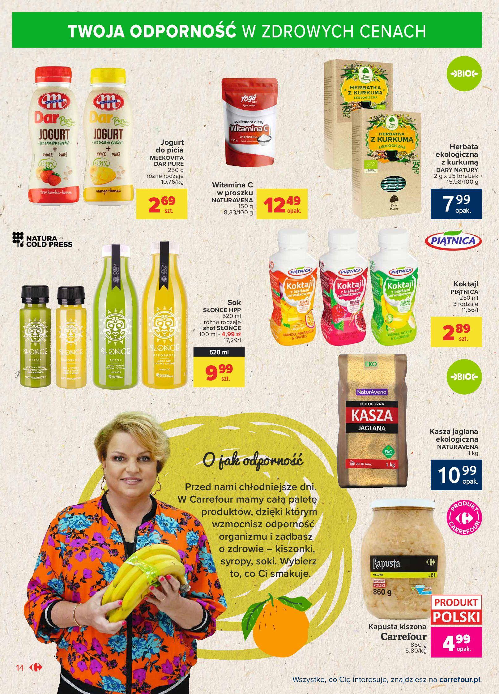 Gazetka Carrefour Market: Gazetka Market - Możemy mądrze jeść 2021-09-14 page-14