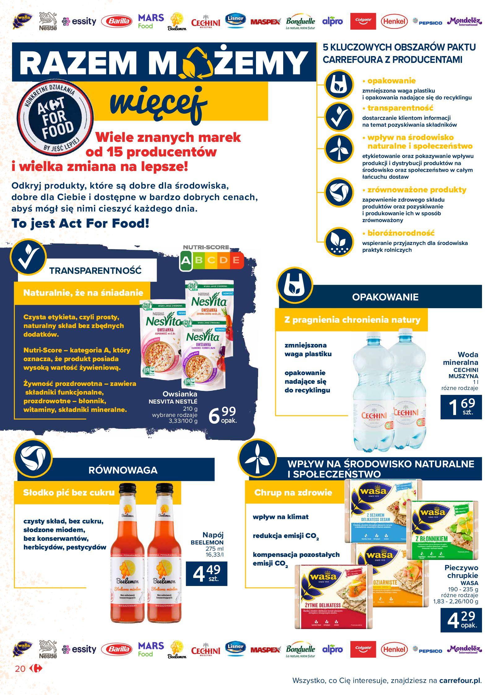 Gazetka Carrefour Market: Gazetka Market - Możemy mądrze jeść 2021-09-14 page-20